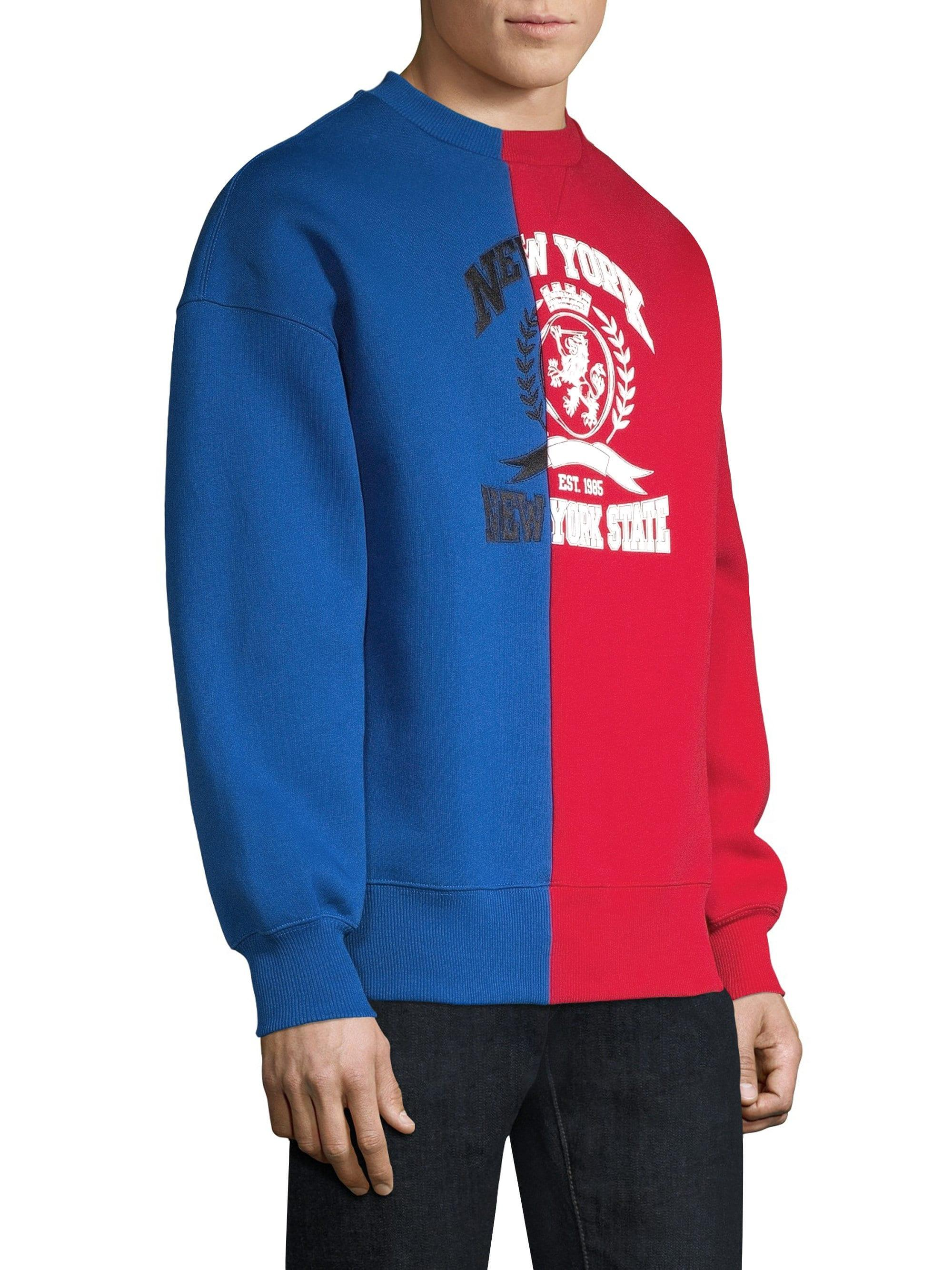 22f50635 Lyst - Tommy Hilfiger Colorblock Crest Patch Cotton Sweater in Blue for Men