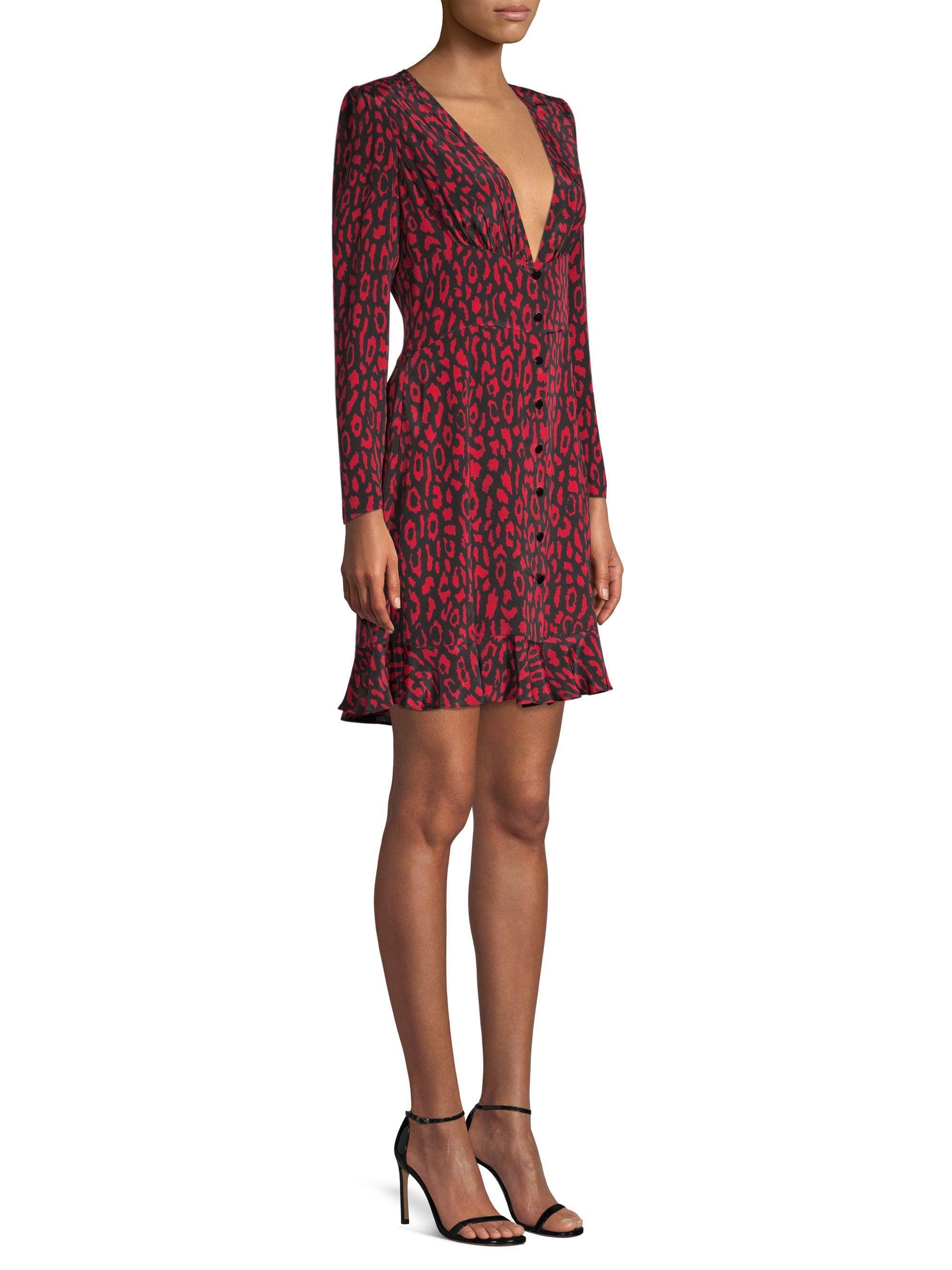 62a47e15ec ... Animal Print A-line Silk Dress - Lyst. View fullscreen