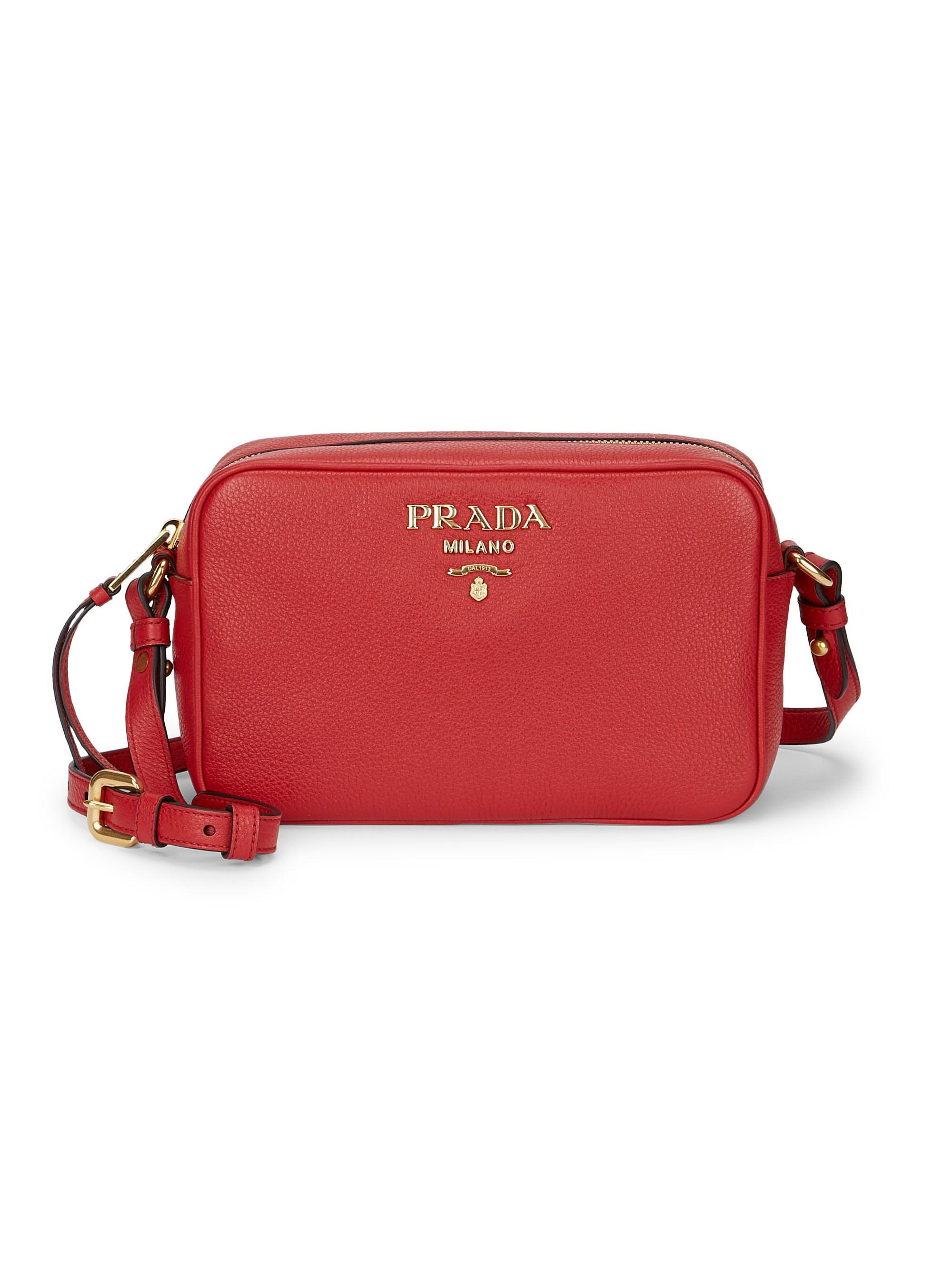 ebf0e7844391bf Prada - Women's Daino Textured Leather Mini Crossbody Bag - Cammeo - Lyst.  View fullscreen