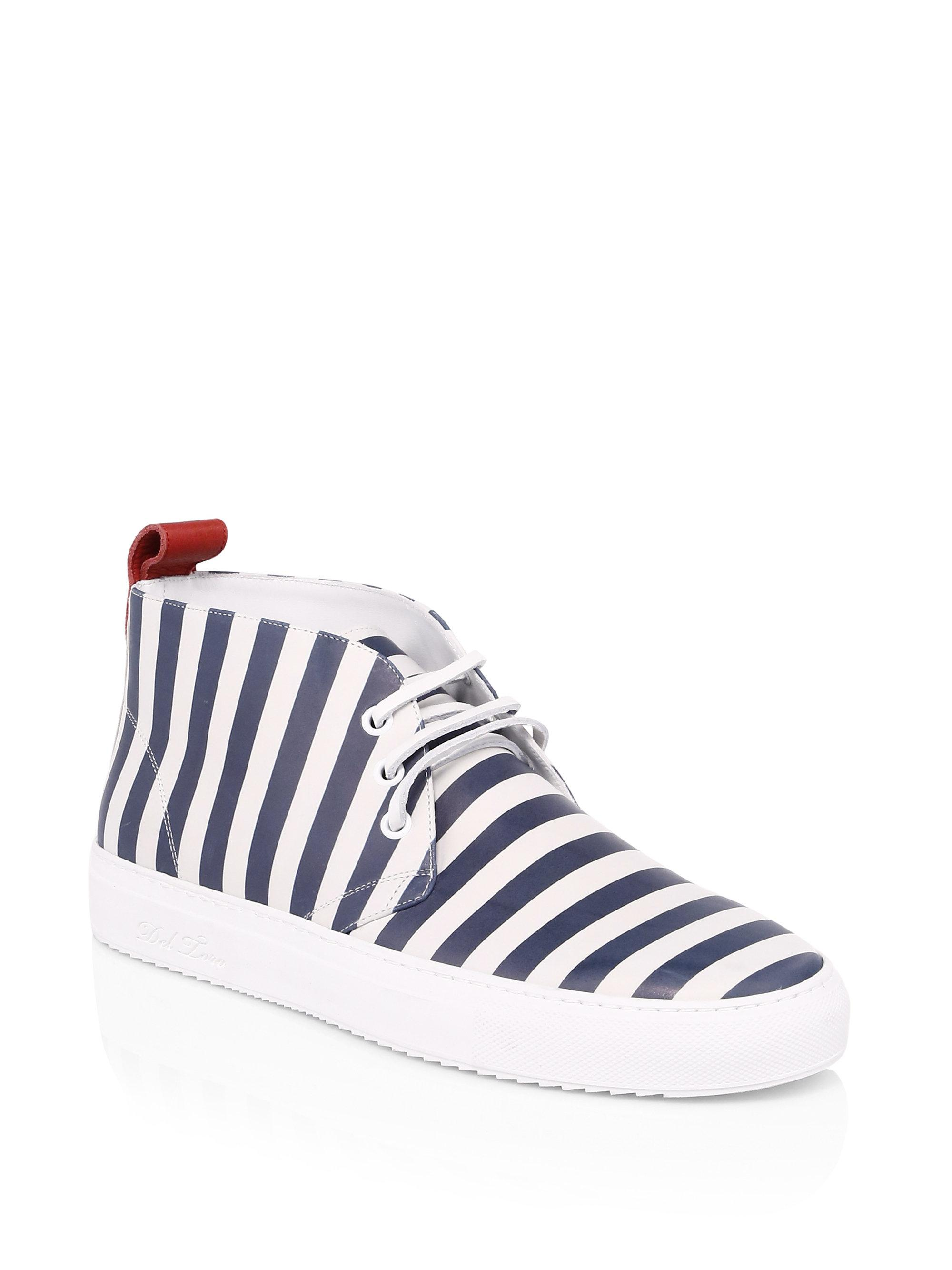 DEL TORO Striped Chukka Sneakers mOAmG