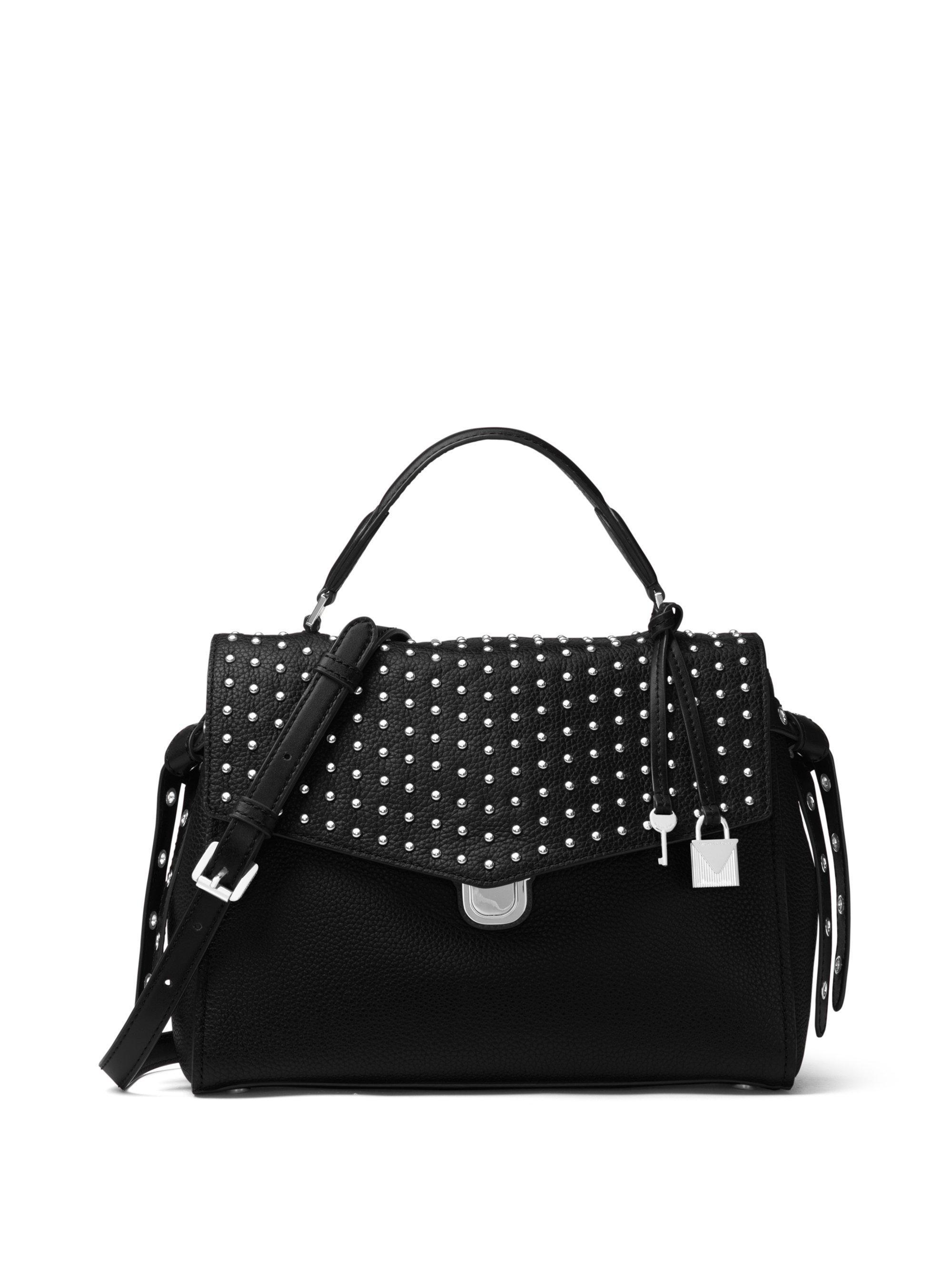 d11494b5c7fb ... netherlands shopping lyst michael michael kors bristol studded leather  satchel in black d5d97 a9d73 cd05b 0f7d1