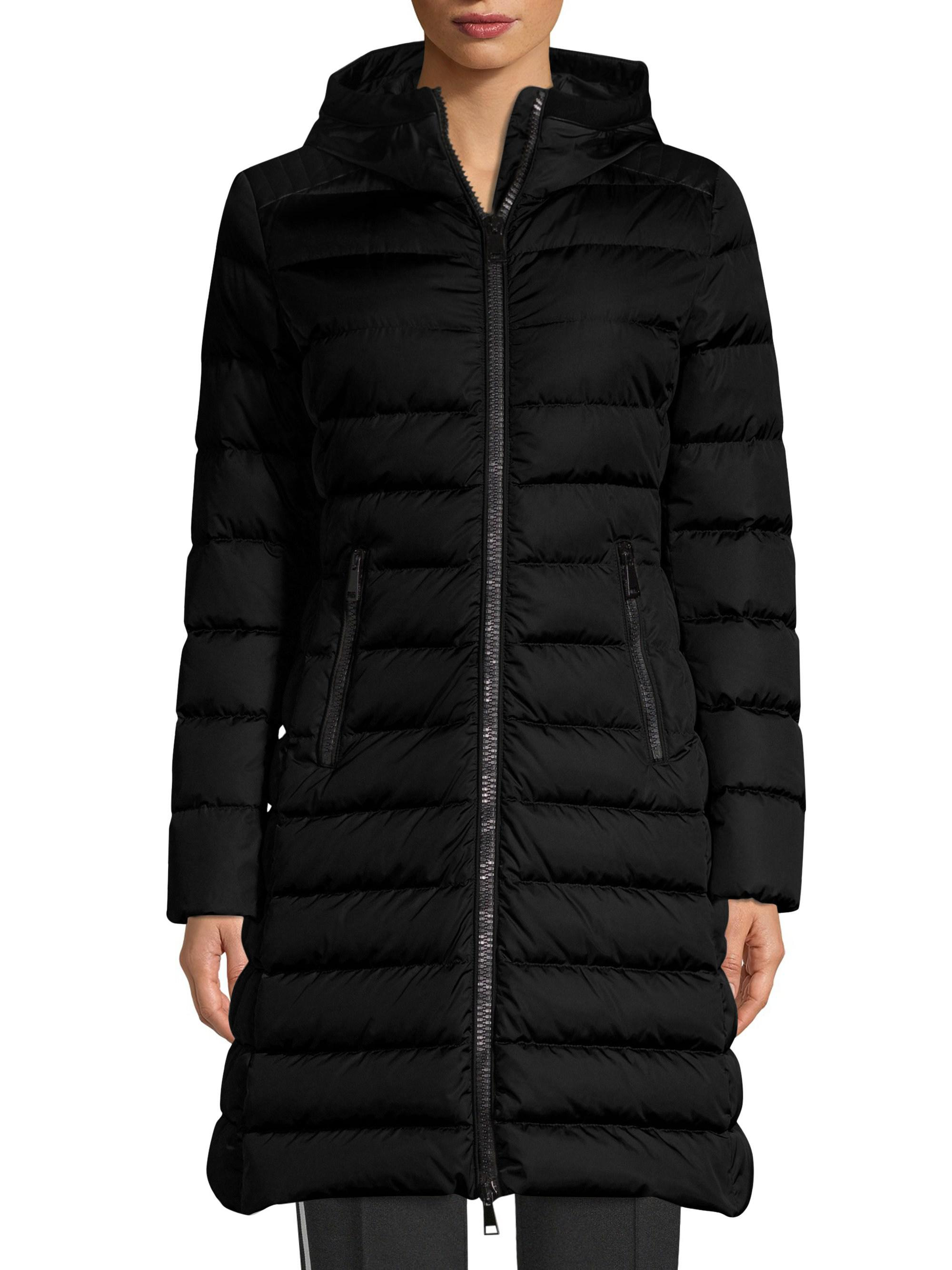 lyst moncler taleve matte puffer parka in black rh lyst com moncler weste damen moncler weste damen