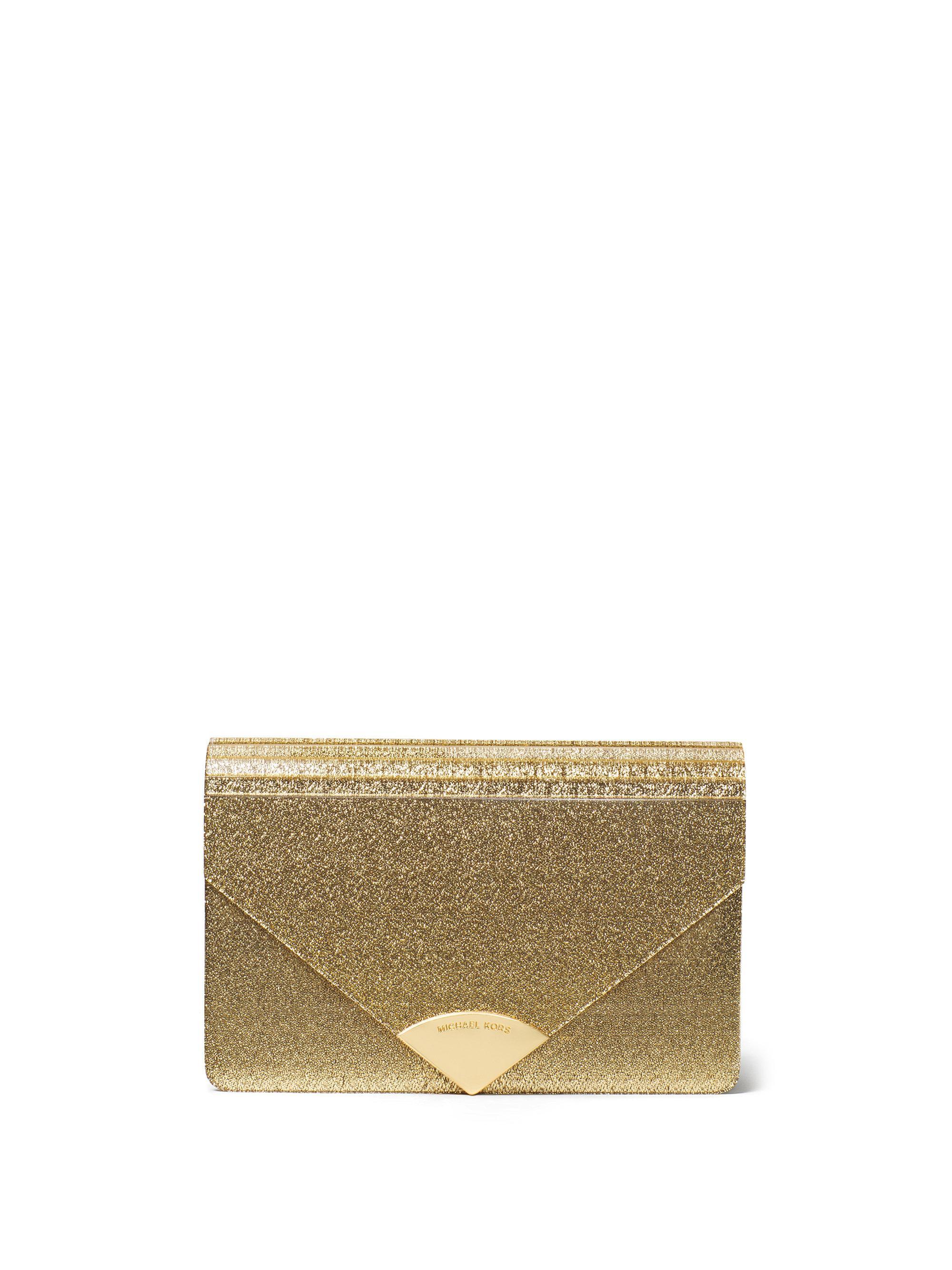 1fcec4d0b2eb MICHAEL Michael Kors Barbara Medium Envelope Clutch in Metallic - Lyst