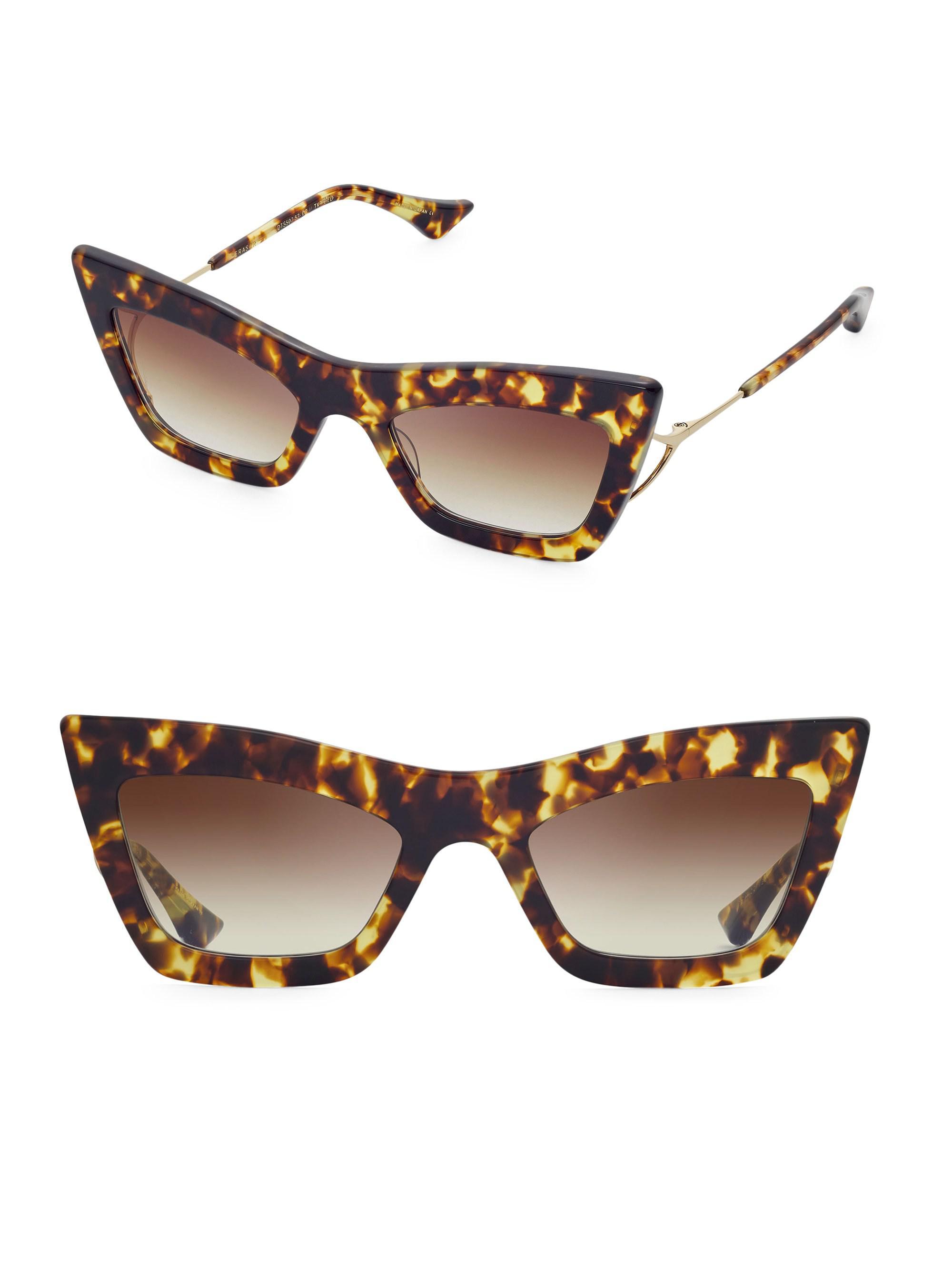 4f6d844fde45 Dita Eyewear 53mm Erasur Cat-eye Sunglasses in Brown - Lyst