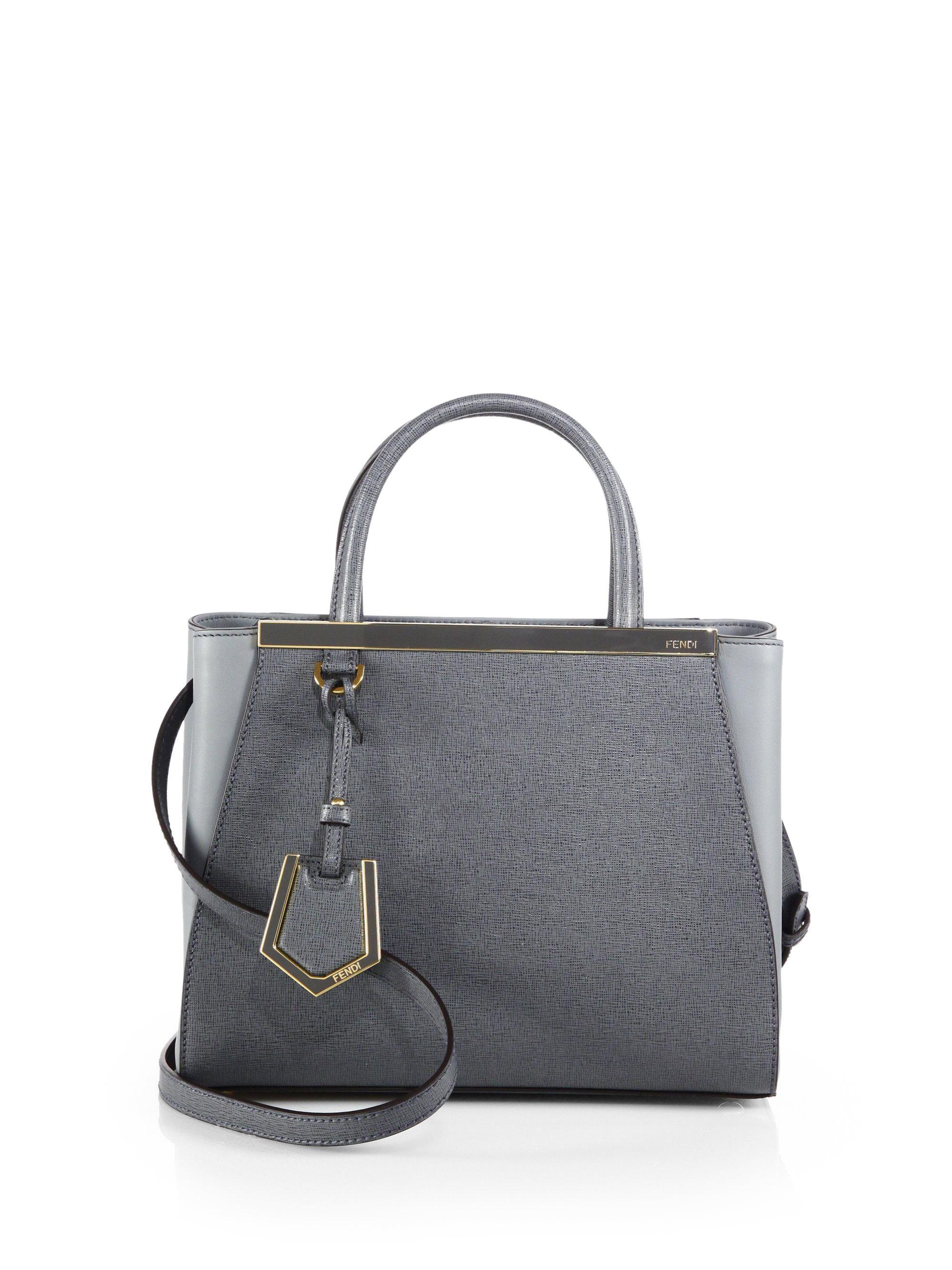 Lyst - Fendi 2jours Petite Shopper in Gray 185b8b1866a0b