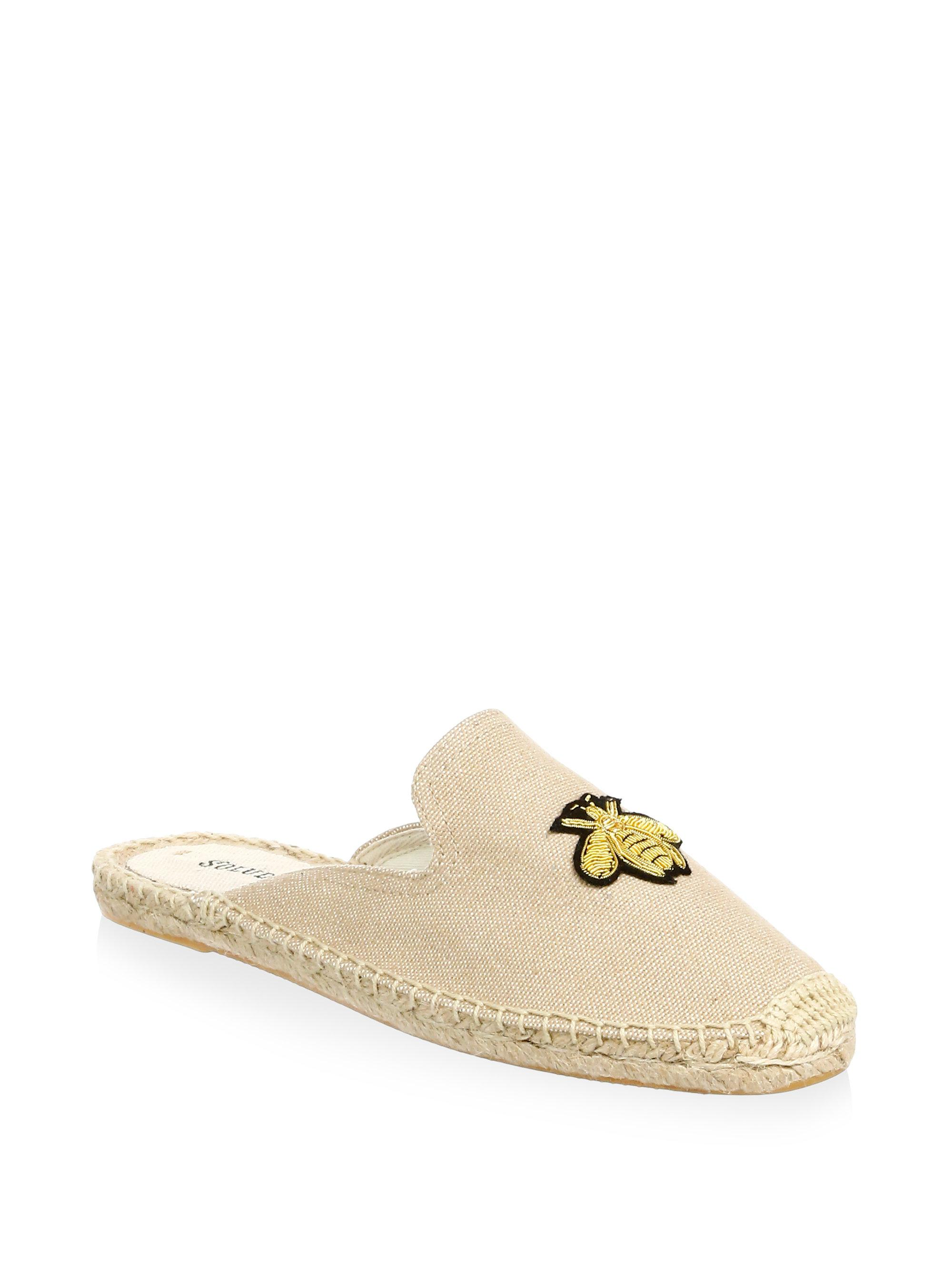 Soludos Bee Canvas Mules bTEQn3m9iG