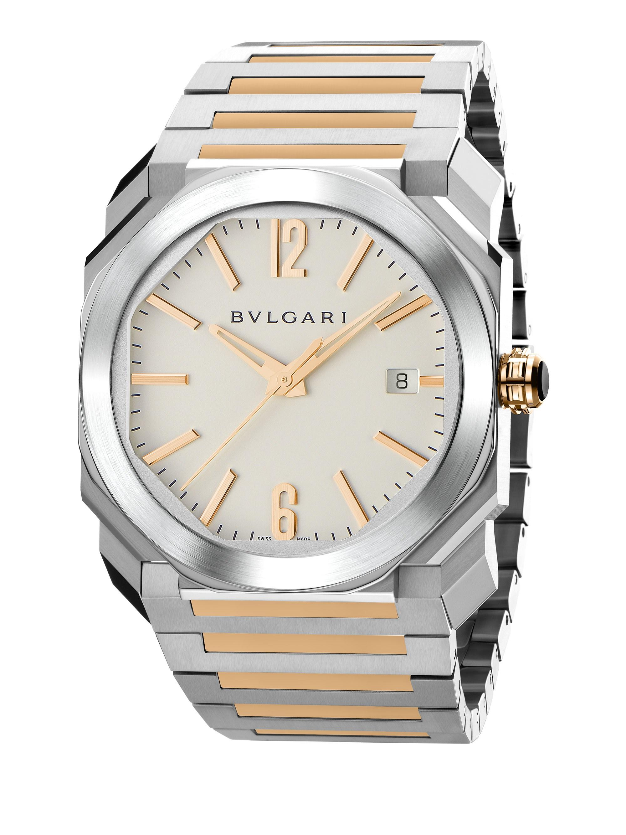 a8f124f55d0 BVLGARI Octo Rose Gold   Stainless Steel Bracelet Watch in Metallic ...