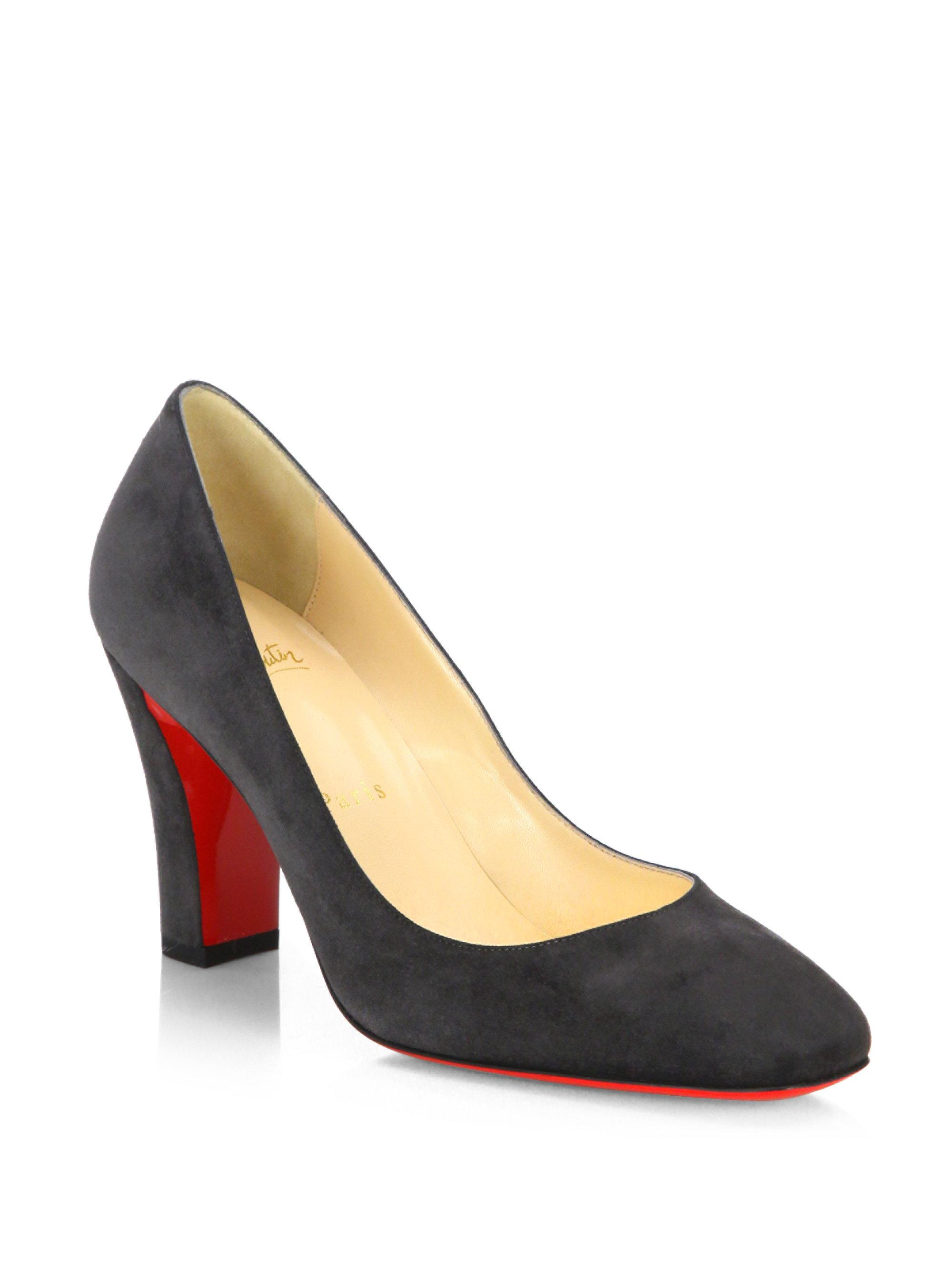 98079dc9a28f Lyst - Christian Louboutin Viva 85 Suede Pumps in Blue
