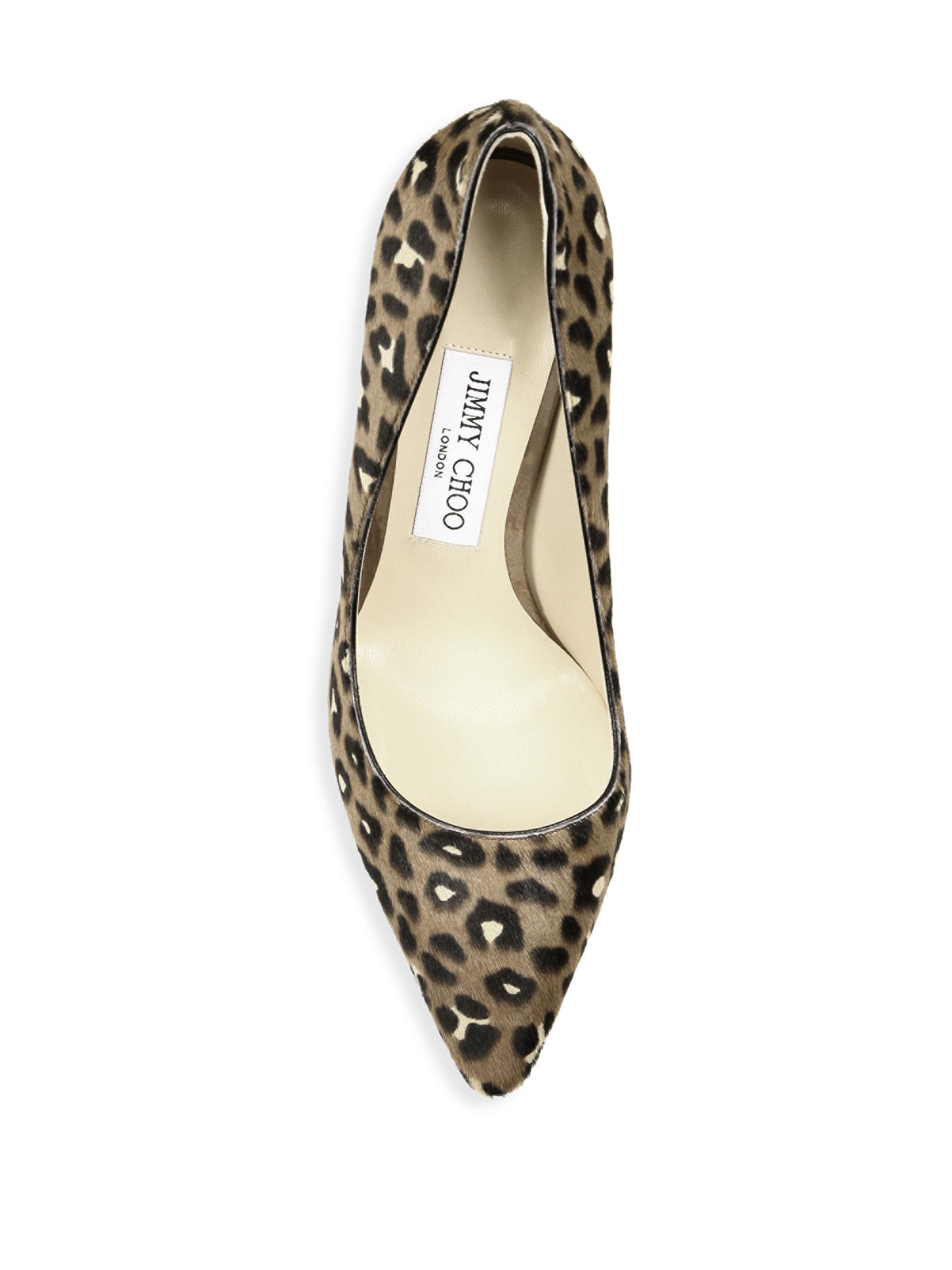 ce77c0b2704a Jimmy Choo Romy 100 Leopard-print Calf Hair Pumps - Lyst