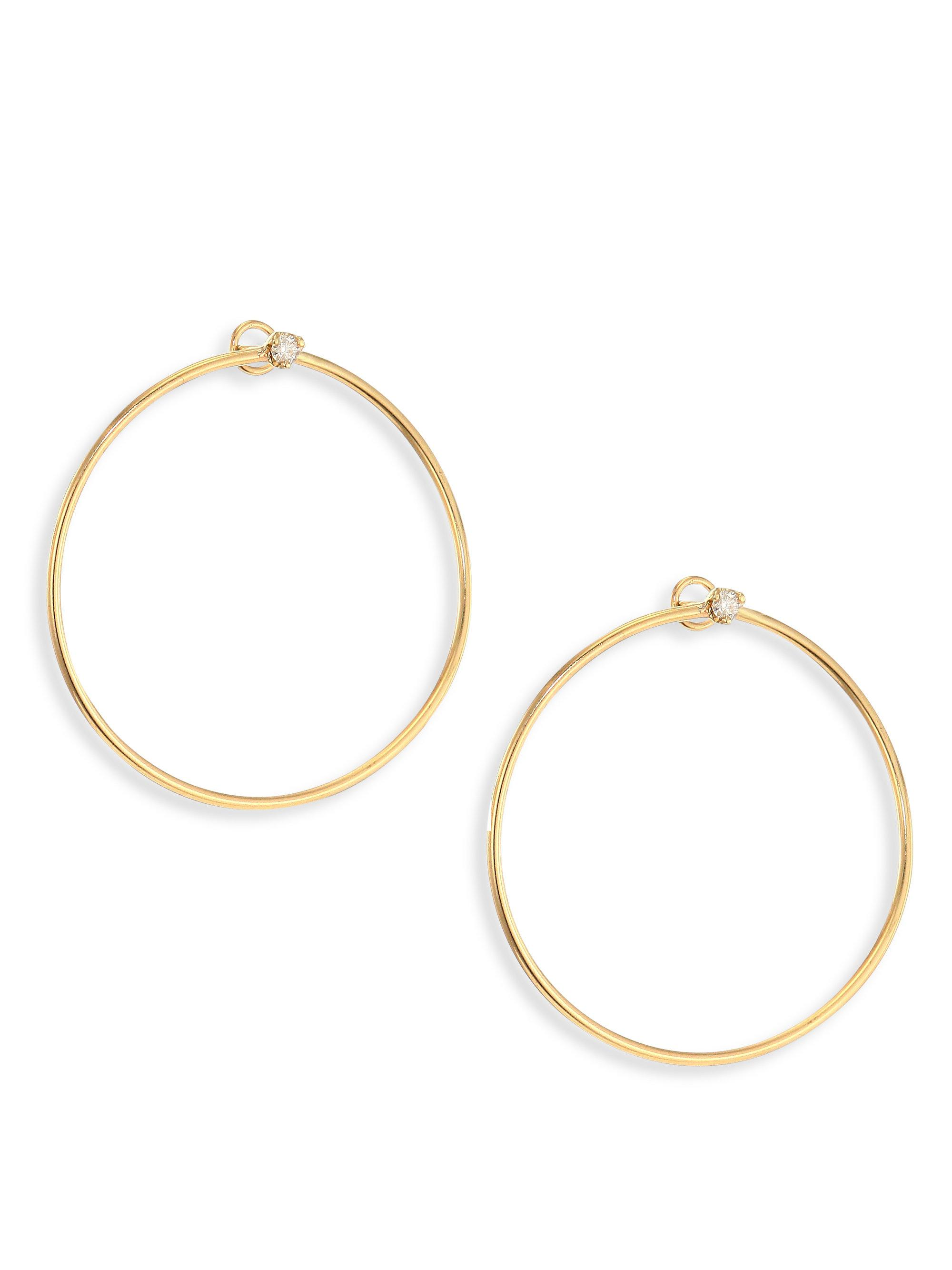 loop stud studs earring featuring eye set pin hoop and catching chain in the