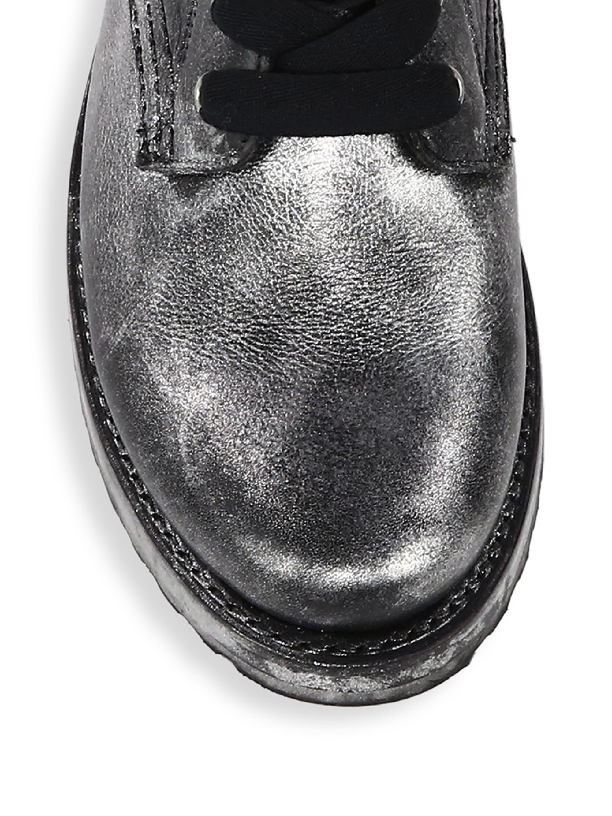 e3670a4f6 Lyst - Frye Women's Veronica Leather Combat Boots - Black Multi in Black