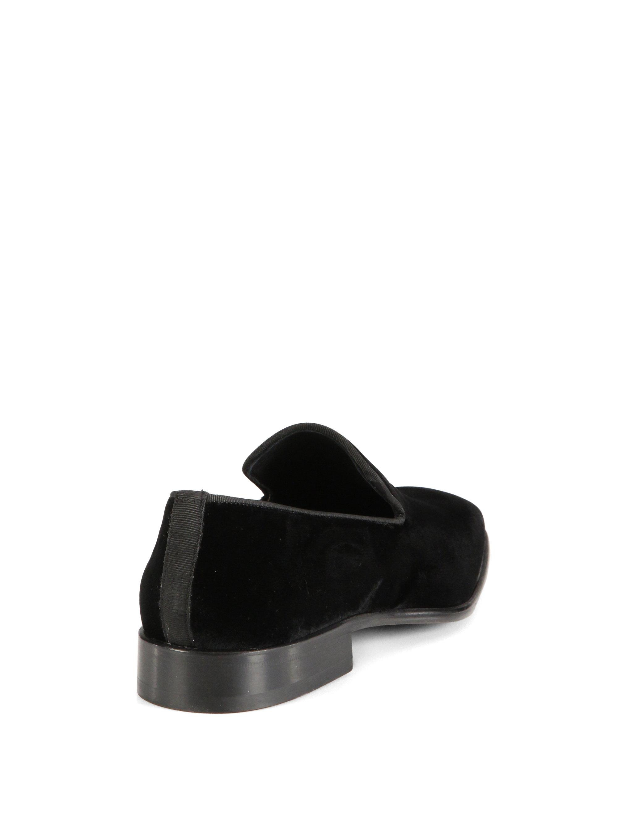 Saks Fifth Avenue COLLECTION Velvet Loafers fqclCY