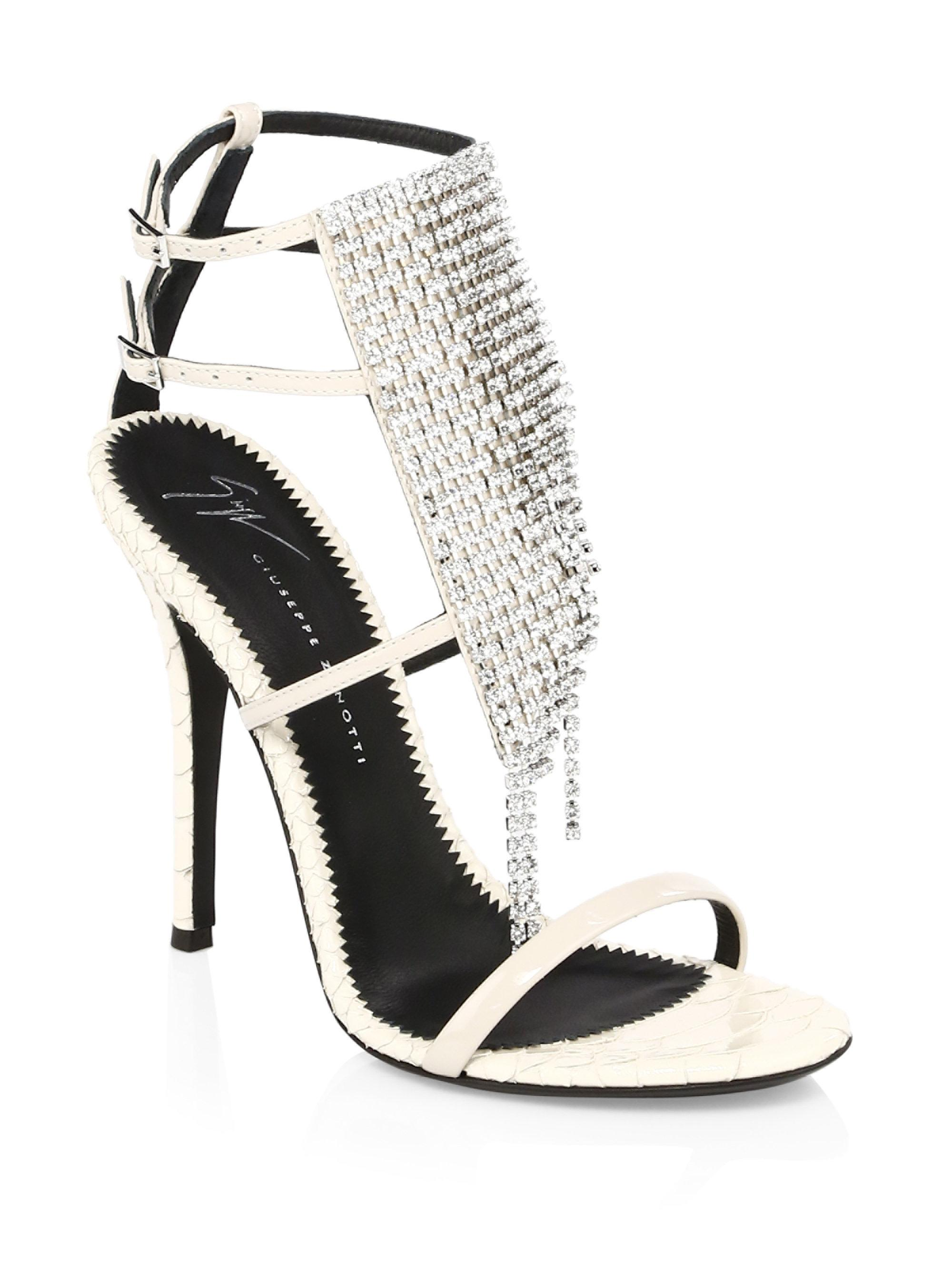 Giuseppe Zanotti Crystal Stiletto Sandals m7hmlYHD