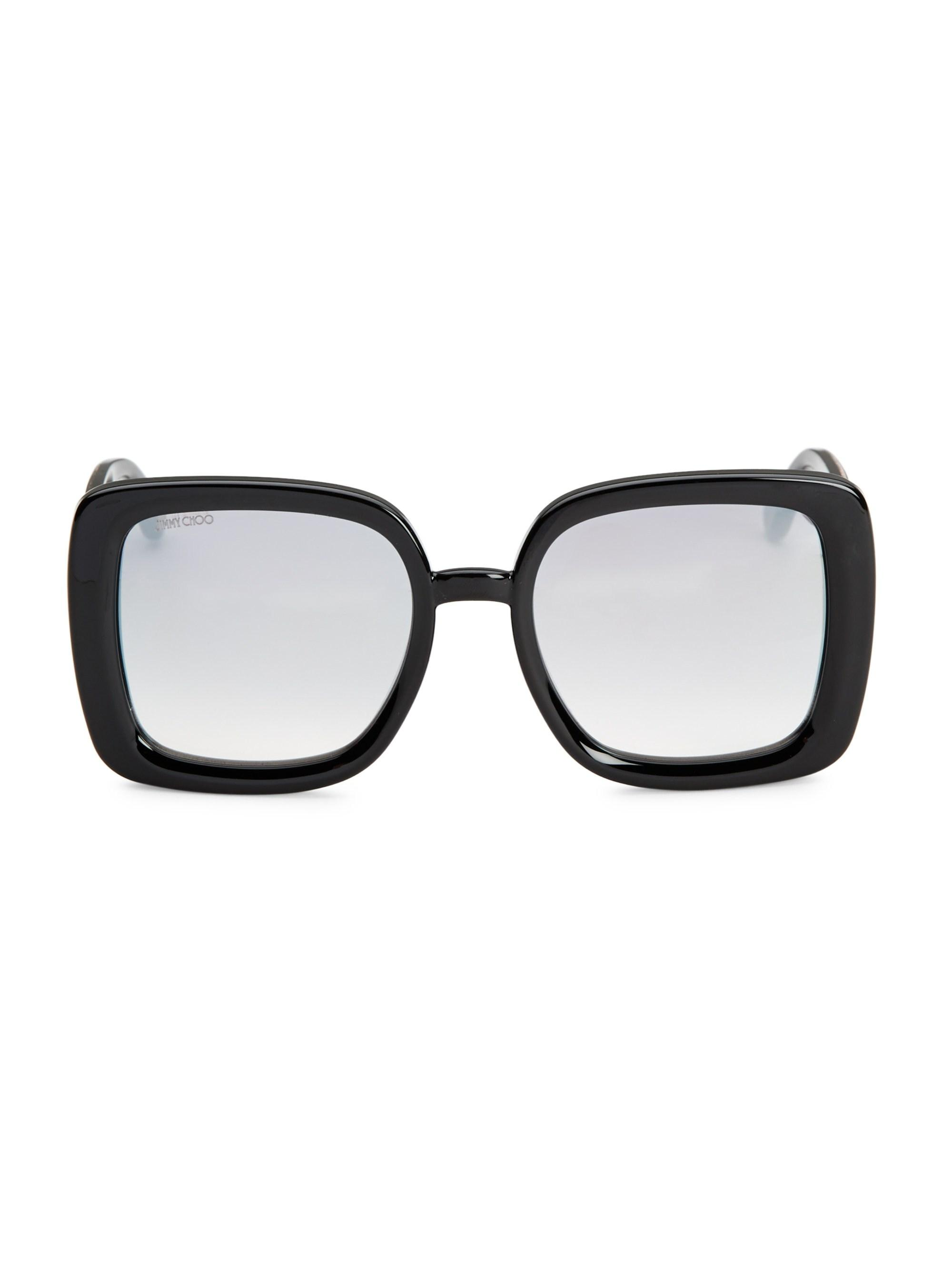 1df61cecfd5 Lyst - Jimmy Choo Women s 54mm Cait Square Sunglasses - Black ...