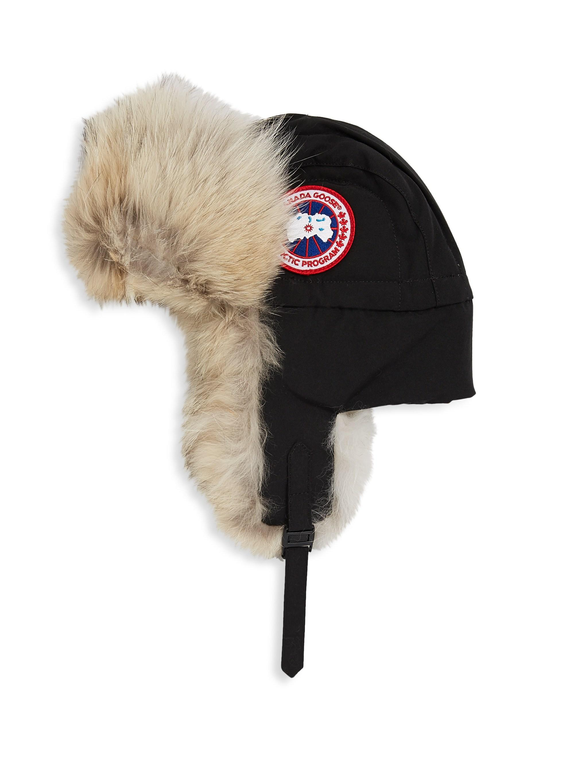 75a8c871c32 Canada Goose Aviator Fur Hat in Black for Men - Lyst
