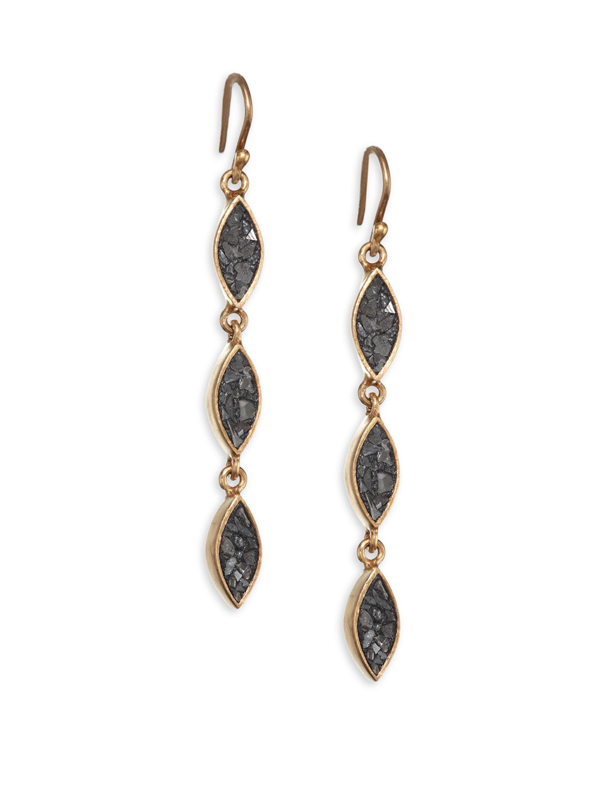 Lyst Shana Gulati Banjara Three Tier Linear Drop Earrings in Metallic