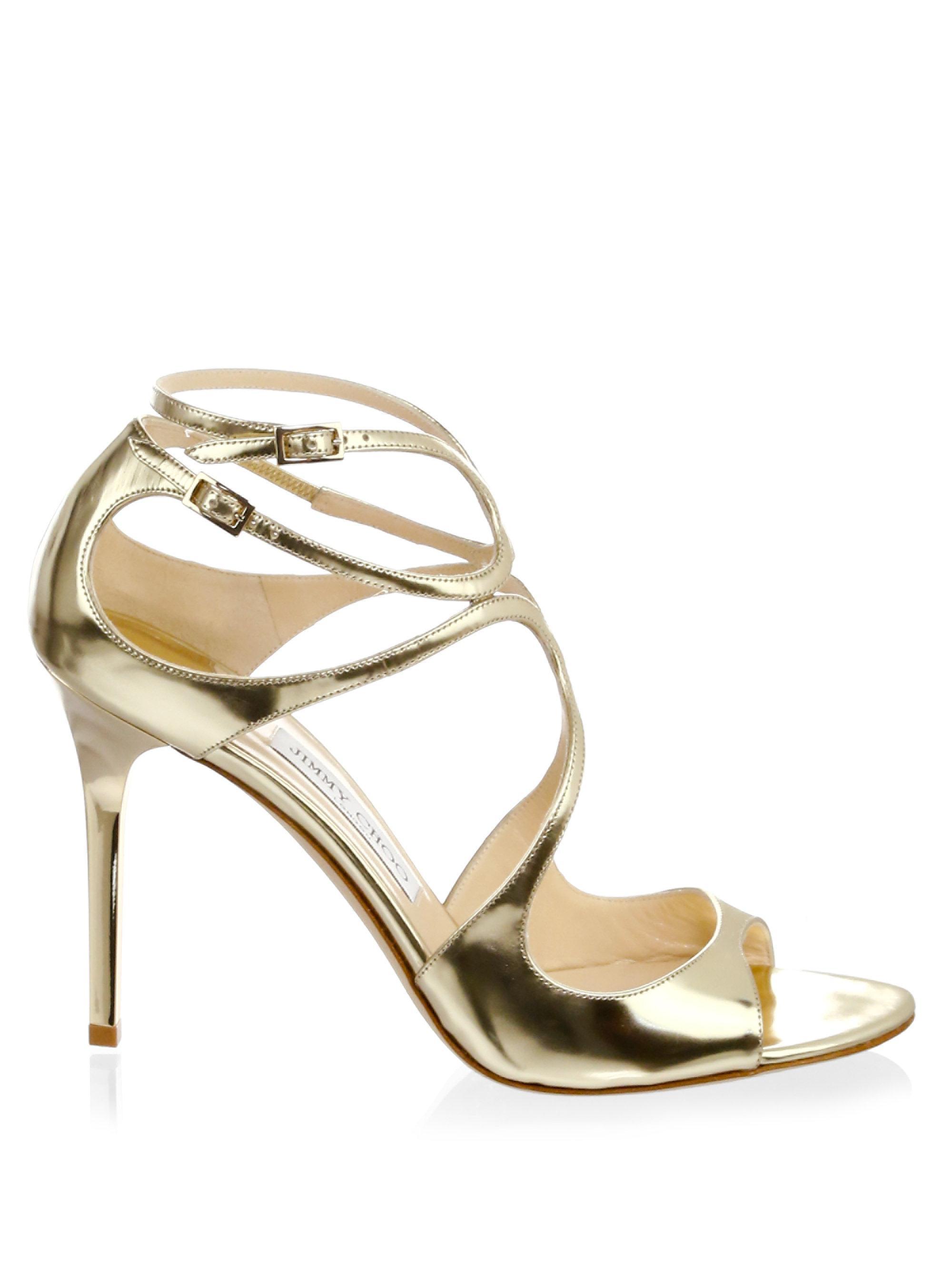 d560a5ad8da Jimmy Choo Pat Strappy Sandals in Metallic - Lyst