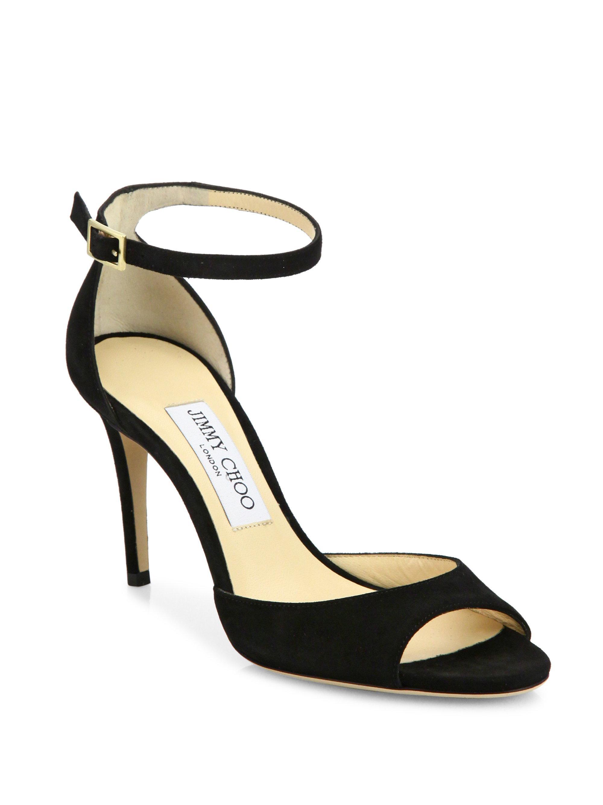 Jimmy choo Annie Glitter d'Orsay Ankle-Strap Sandals gqKWBPT78n