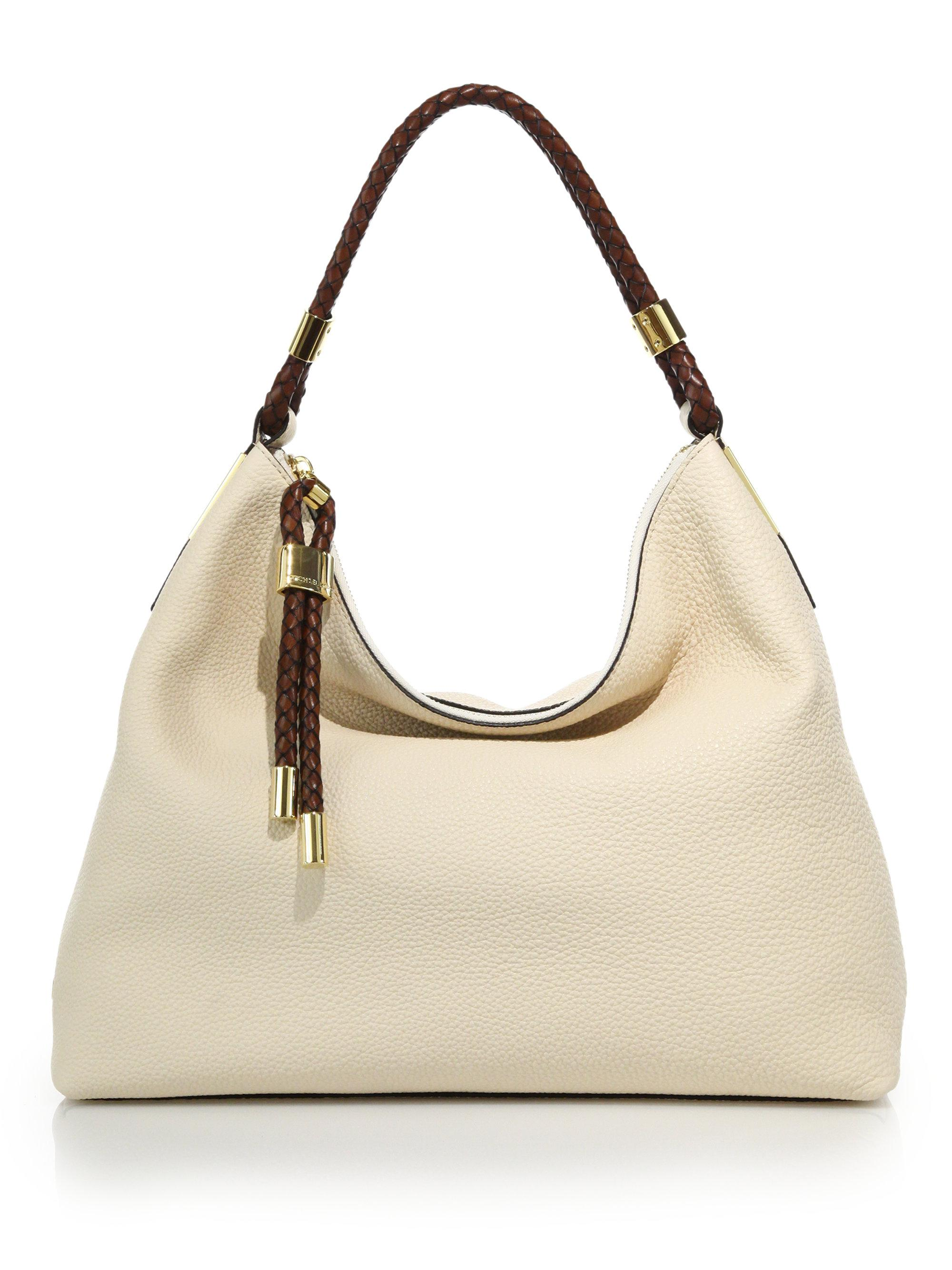 46329d68369e ... top zip leather shoulder bags chandler large leather totes crossbody  bags 8e4e7 discount code for michael kors. womens natural skorpios small  crossbody ...