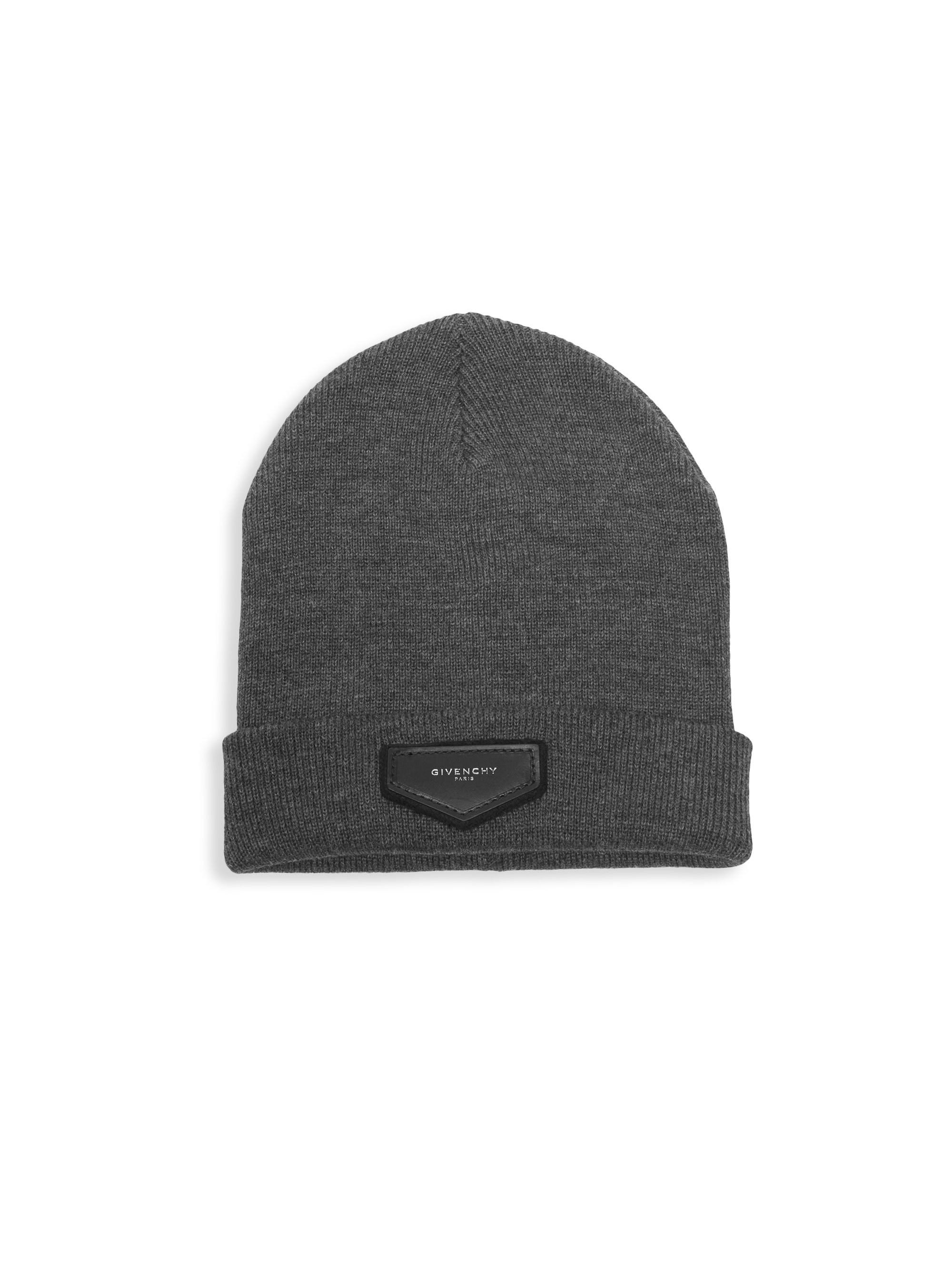 e2fb2b783d5 Givenchy Wool   Cashmere Logo Toque in Gray for Men - Lyst