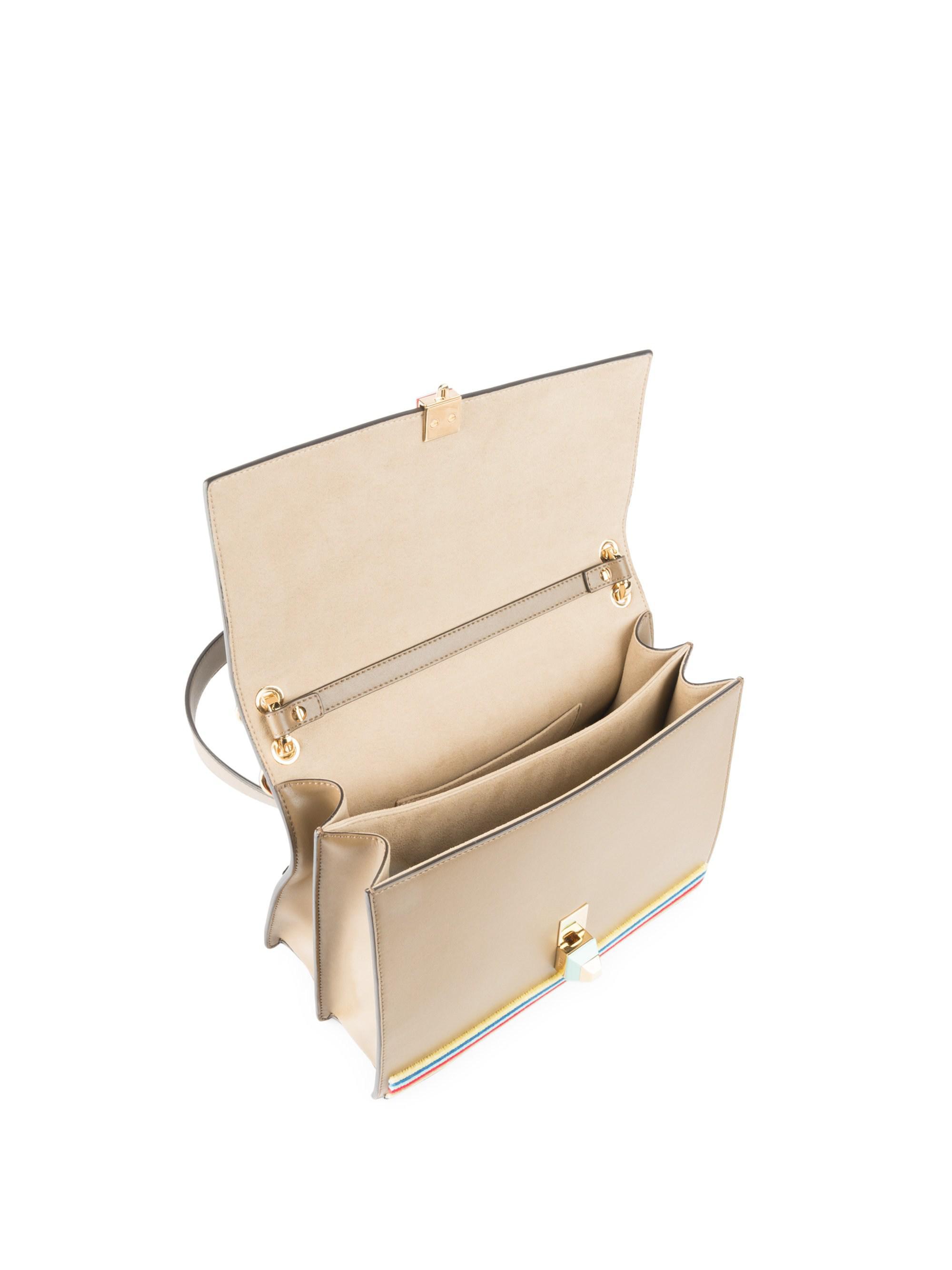 43b6025498af Fendi Tappetino Kan I Embroidered Shoulder Bag - Lyst