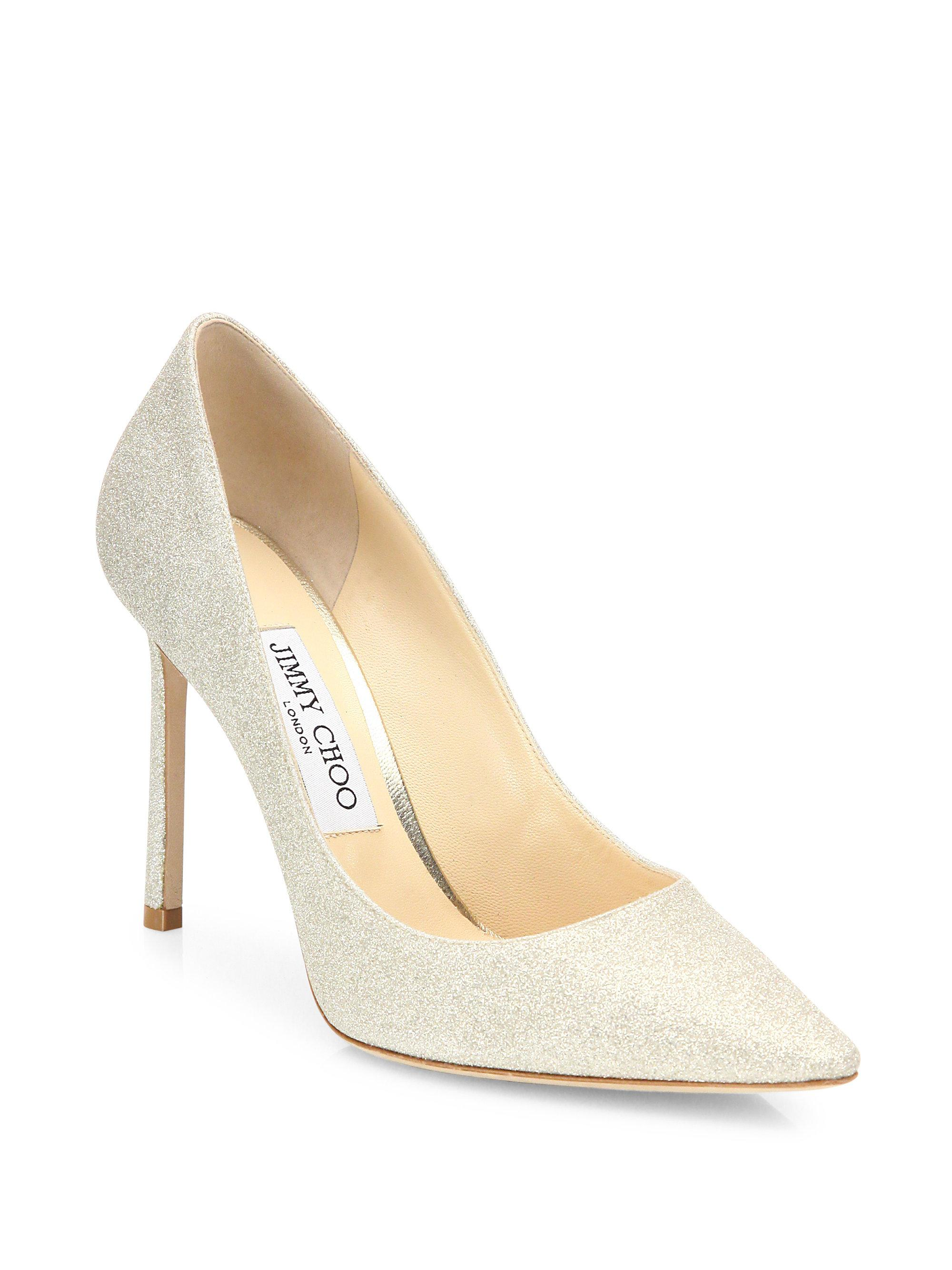 Romy 100 dusty glitter pump Jimmy Choo London qAWCsIr5