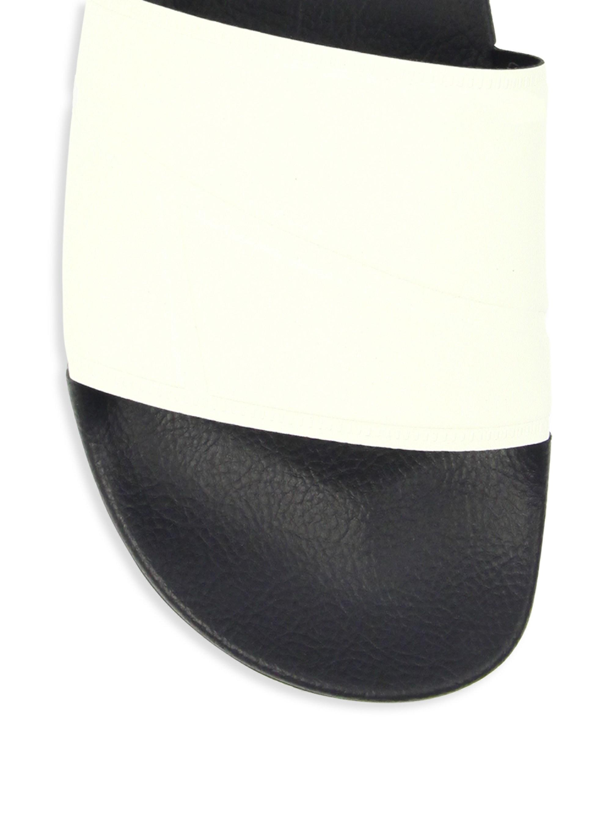0e108acd0d942e Lyst - adidas By Raf Simons Bunny Adilette Rubber Slides in Black for Men