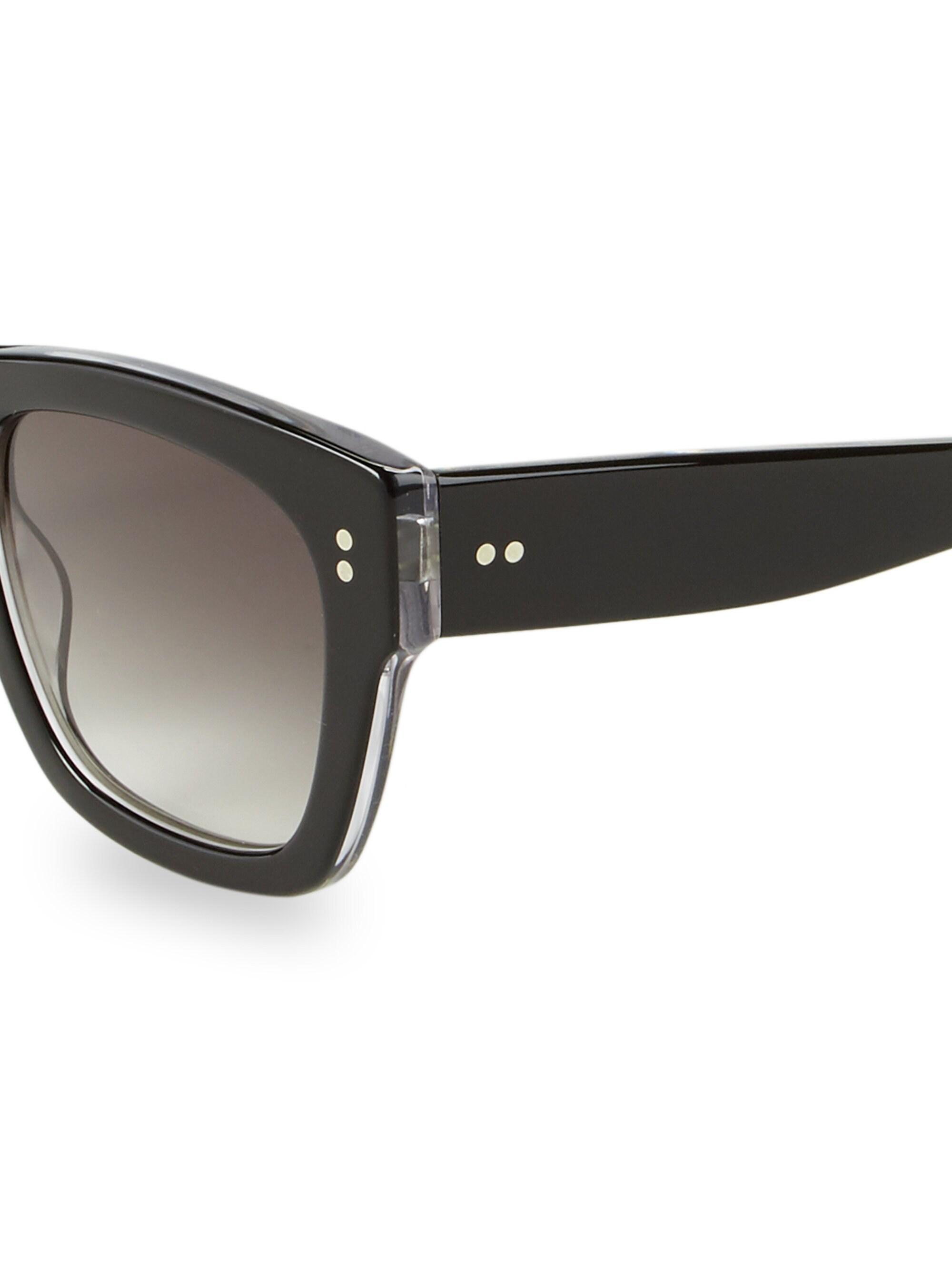 cb1377c6c Colors In Optics Women's 51mm Panther Ii Rectangular Sunglasses - Black in  Black - Lyst