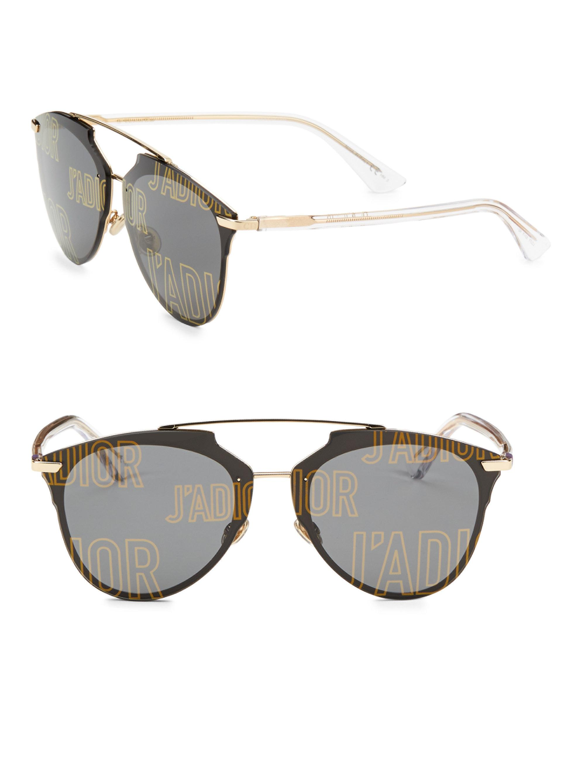 564fd0ed15 Dior. Women s Metallic Reflected Prism 63mm Mirrored Modified Pantos  Sunglasses