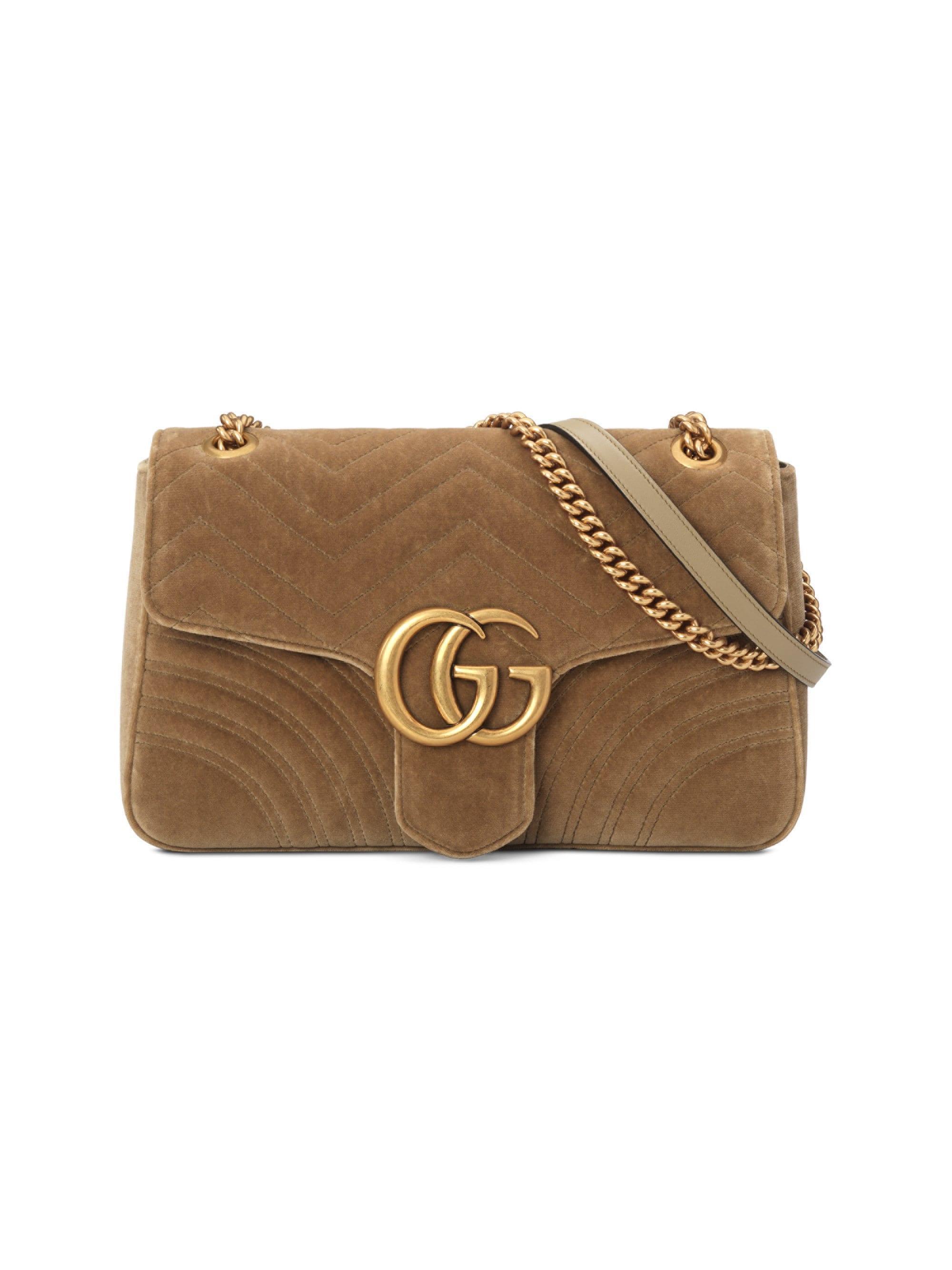 4532daa5d58 Gucci. Women s GG Marmont Velvet Medium Shoulder Bag