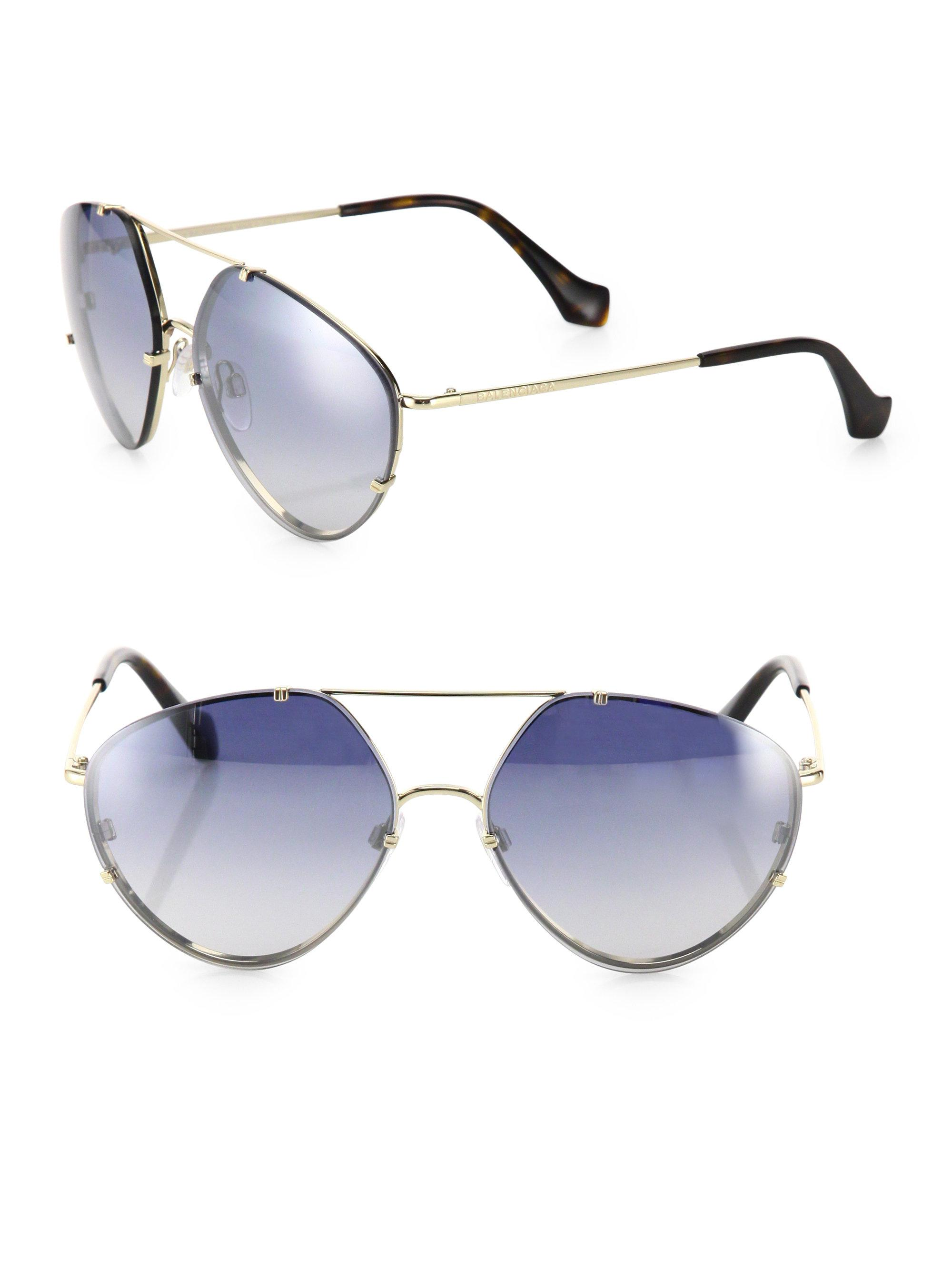 02a1815c045bf Gallery. Previously sold at  Saks Fifth Avenue · Women s Mirrored Sunglasses  ...