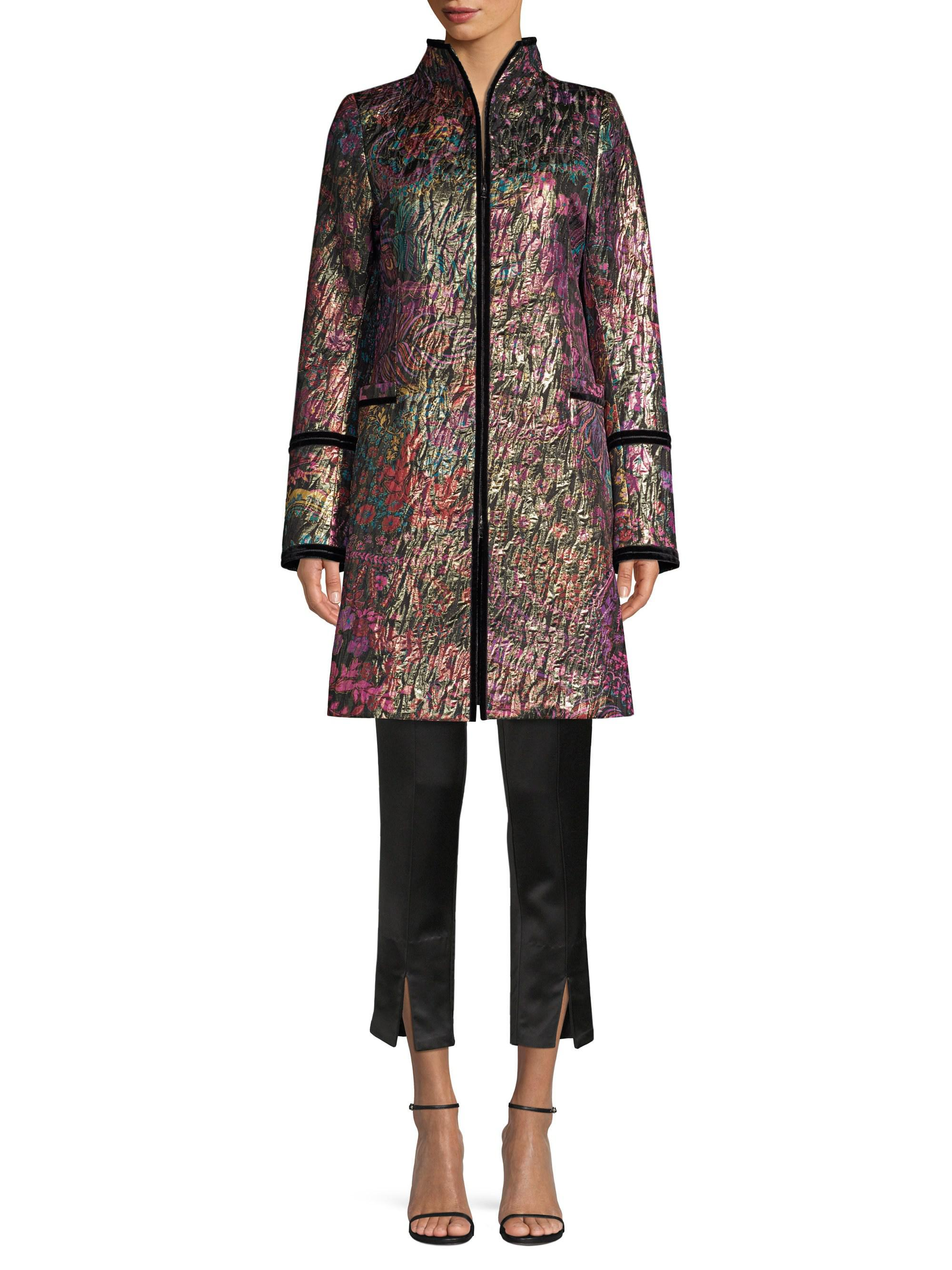 Natori Duster Embroidered Vert Coat Front Tie Exw4qxgf8n 1OrxOdH