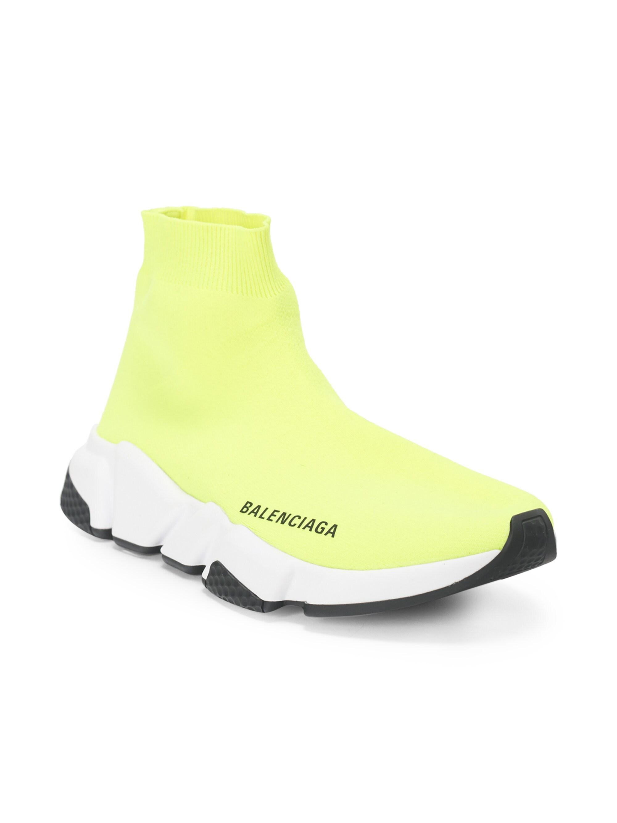 c2009cc7b Balenciaga Men's Speed Trainer Sock Sneakers - Noir in Yellow for ...