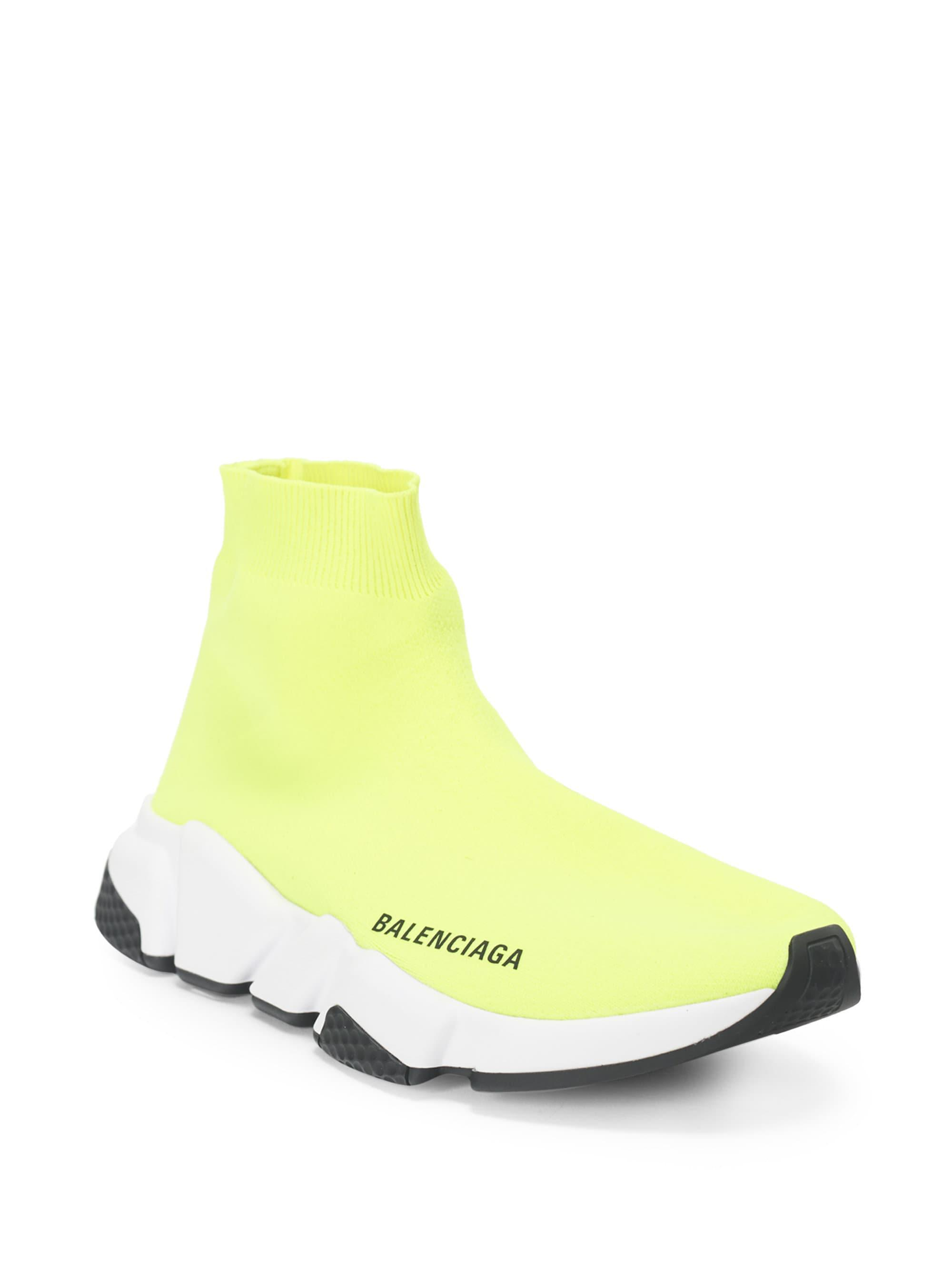 359dffa6d2a1 Balenciaga - Yellow Men s Speed Mid-top Trainer Sock Sneakers for Men -  Lyst. View fullscreen