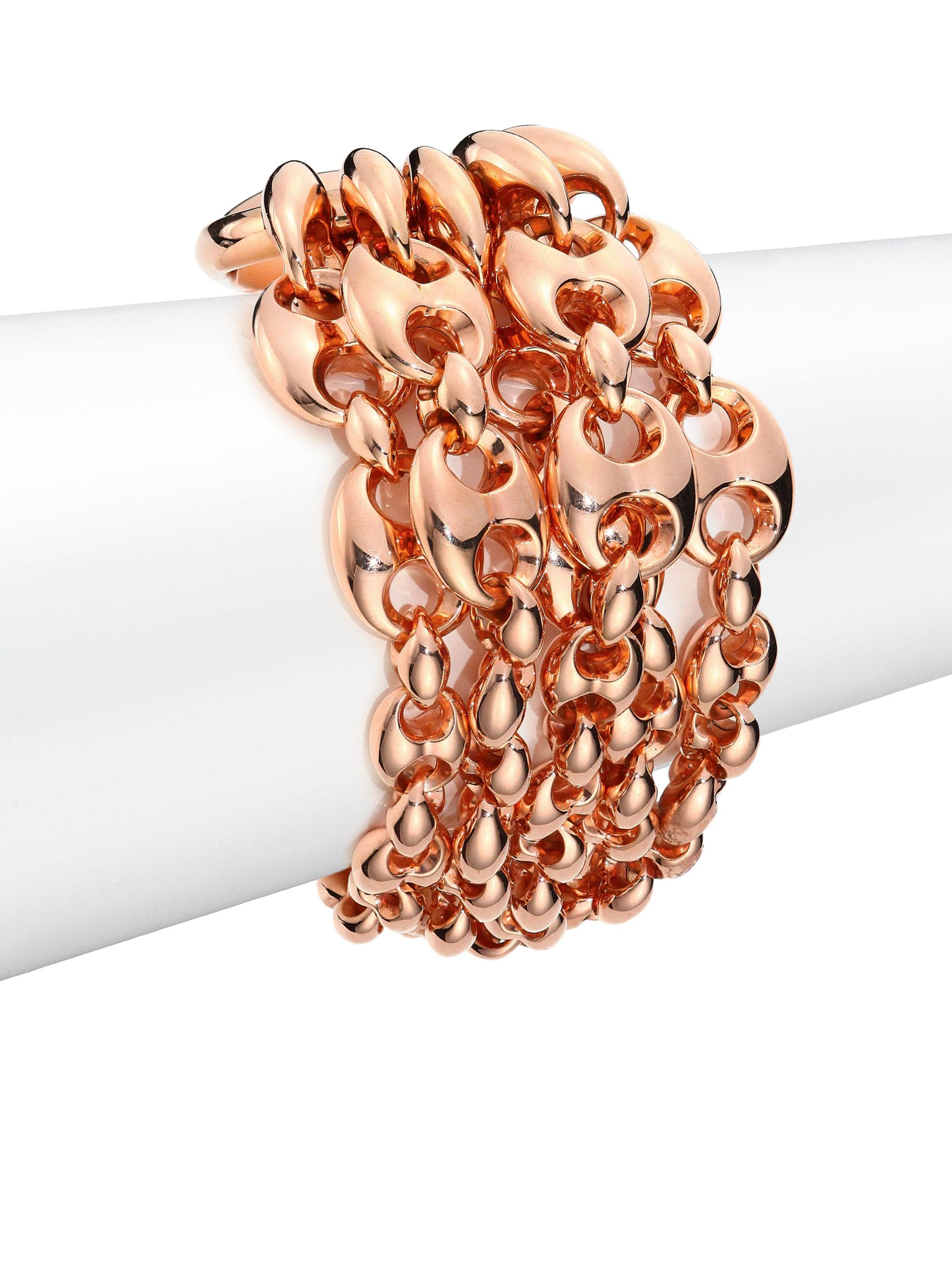 Lyst Gucci Marina Chain 18k Rose Gold Link Bracelet In Pink