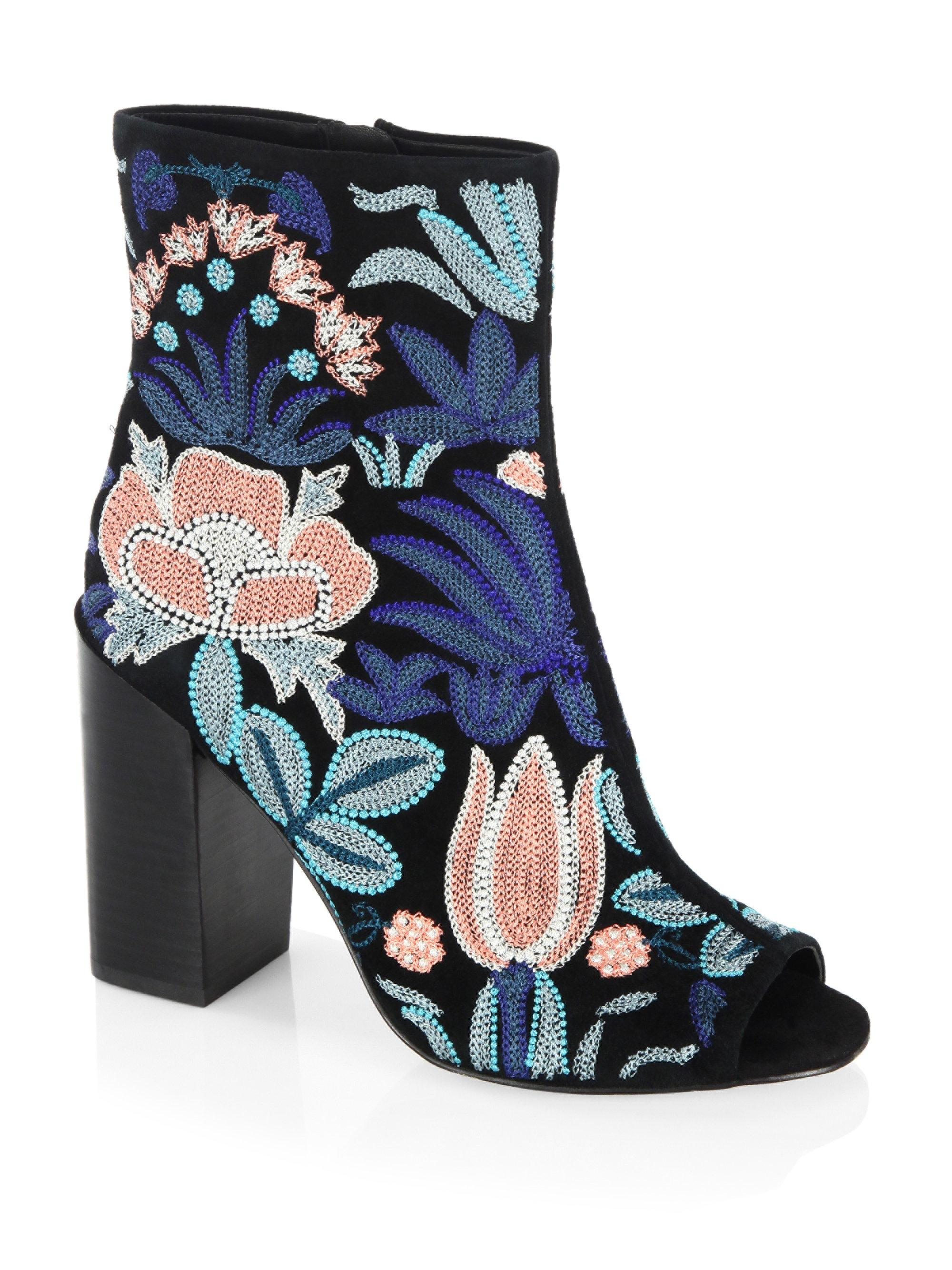 Rebecca Minkoff Suede Embroidered Boots enjoy cheap online sale for sale marketable cheap online free shipping Inexpensive popular cheap price R65Vxj94