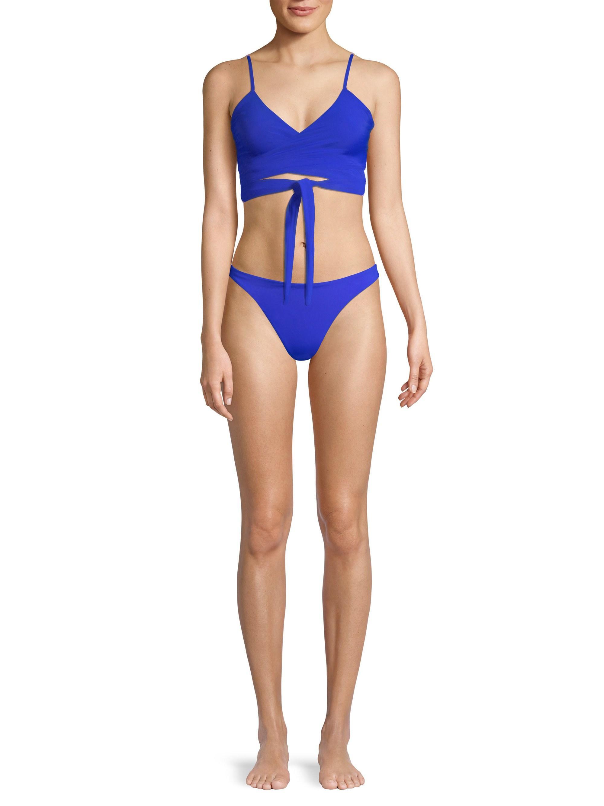 43c20a7001 Mara Hoffman Women s Mila Bikini Top - Baltimora - Size Xs in Blue ...