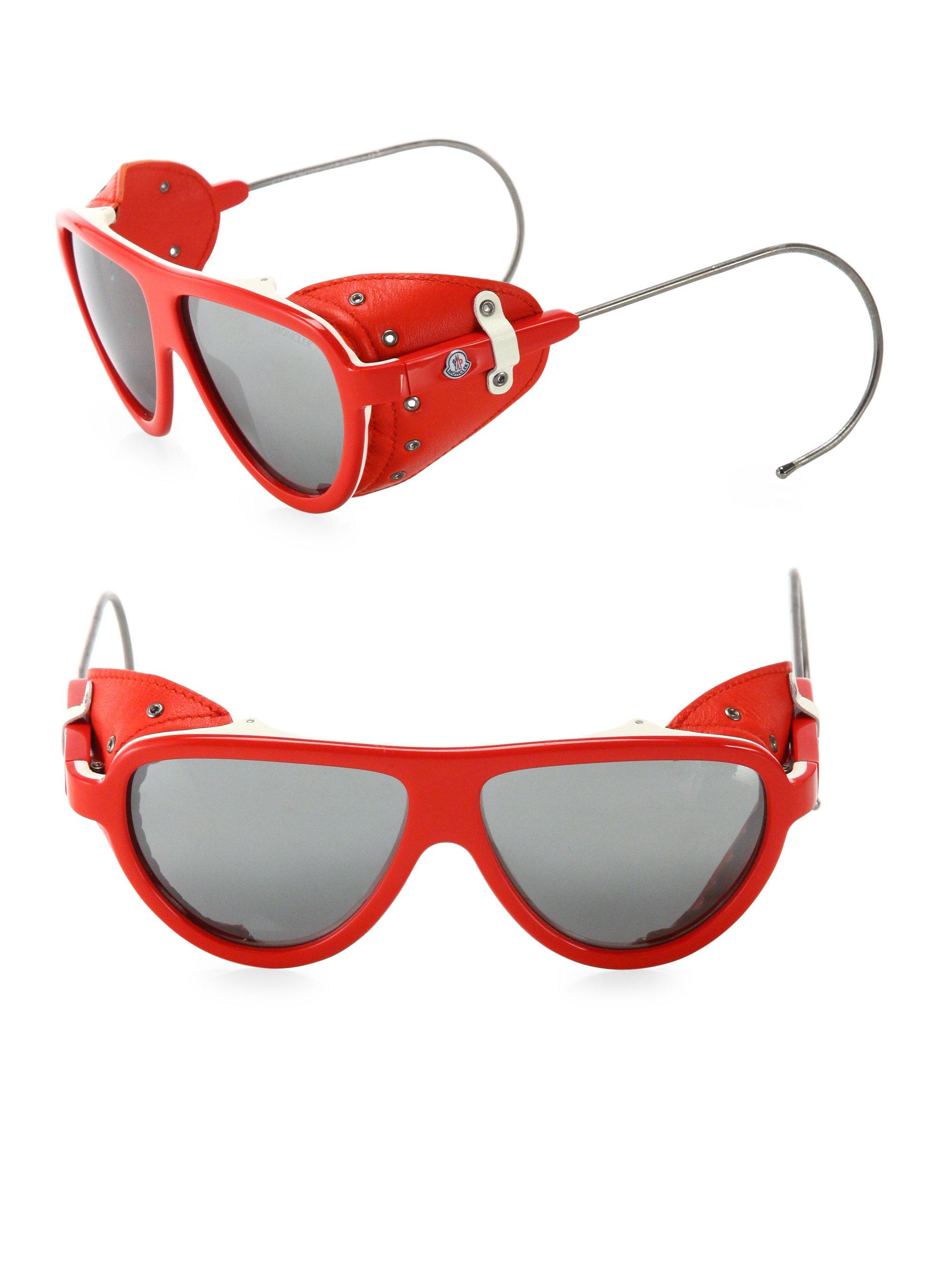 red moncler sunglasses