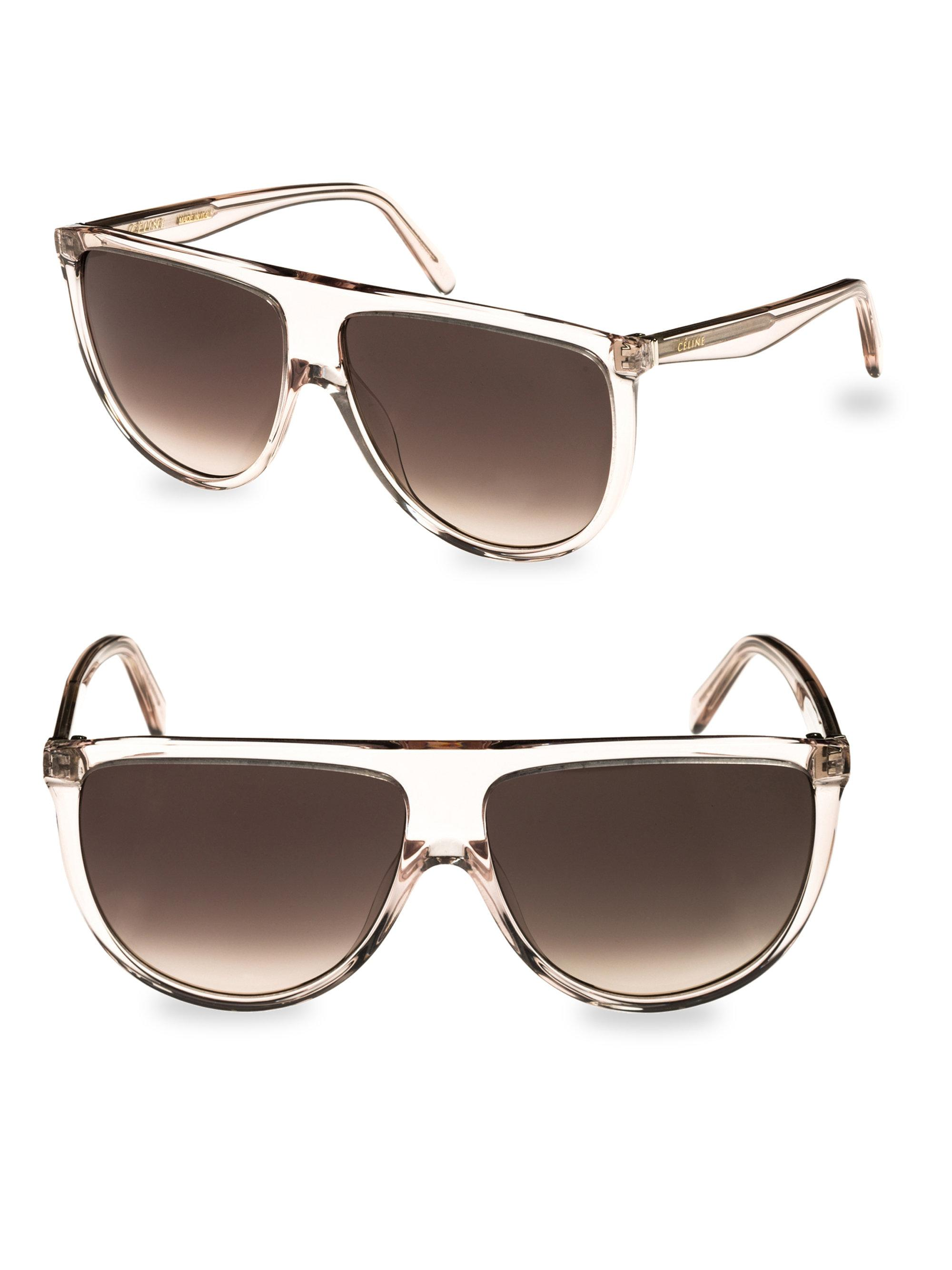 58fbfd9472065 Céline Transparent Smoke Aviator Sunglasses in Brown - Save ...