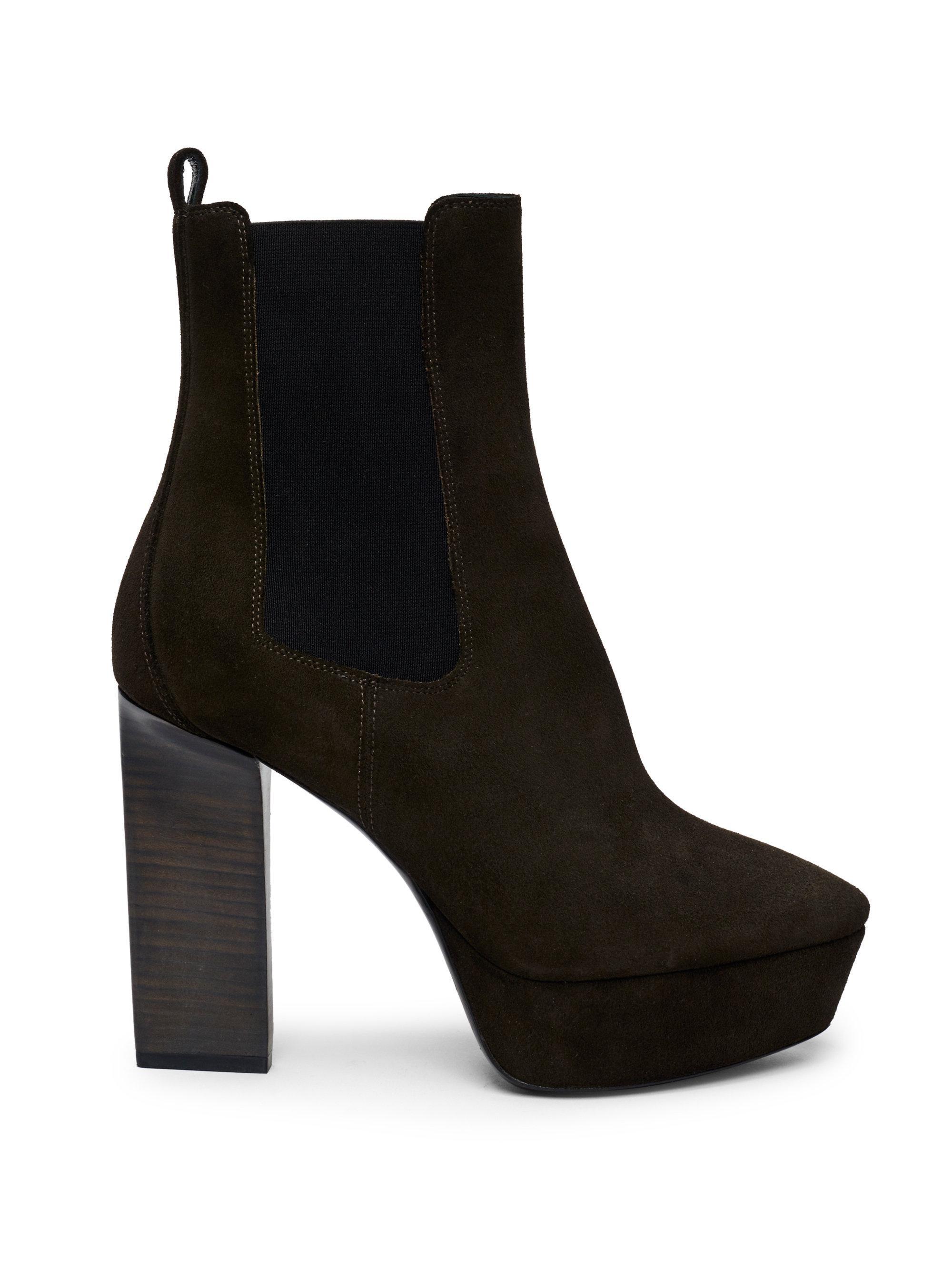 Saint Laurent Vika Leather Platform Bootie U4dNhtK
