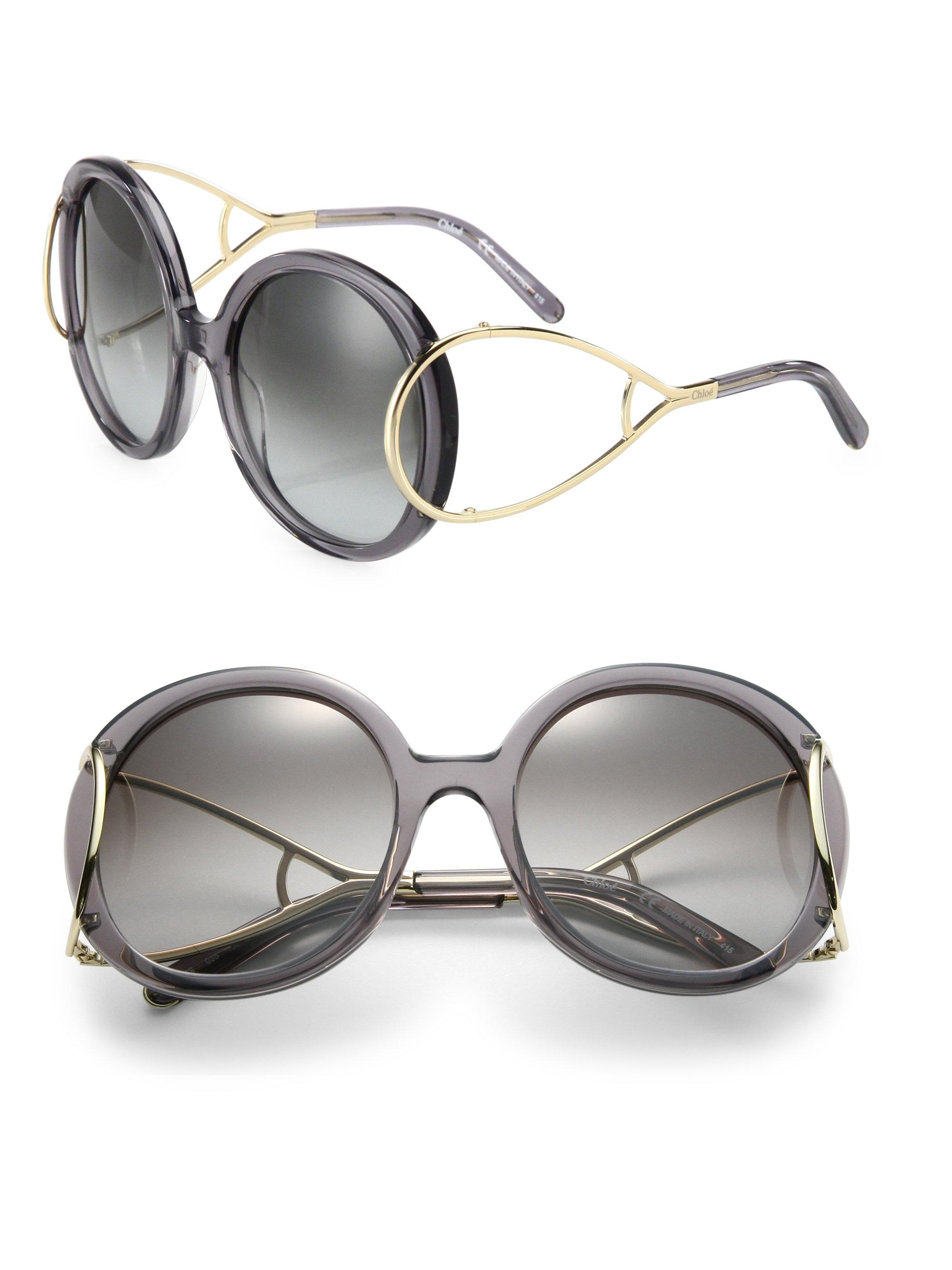 ade2c5359d59 Lyst - Chloé Jackson 56mm Round Sunglasses in Gray