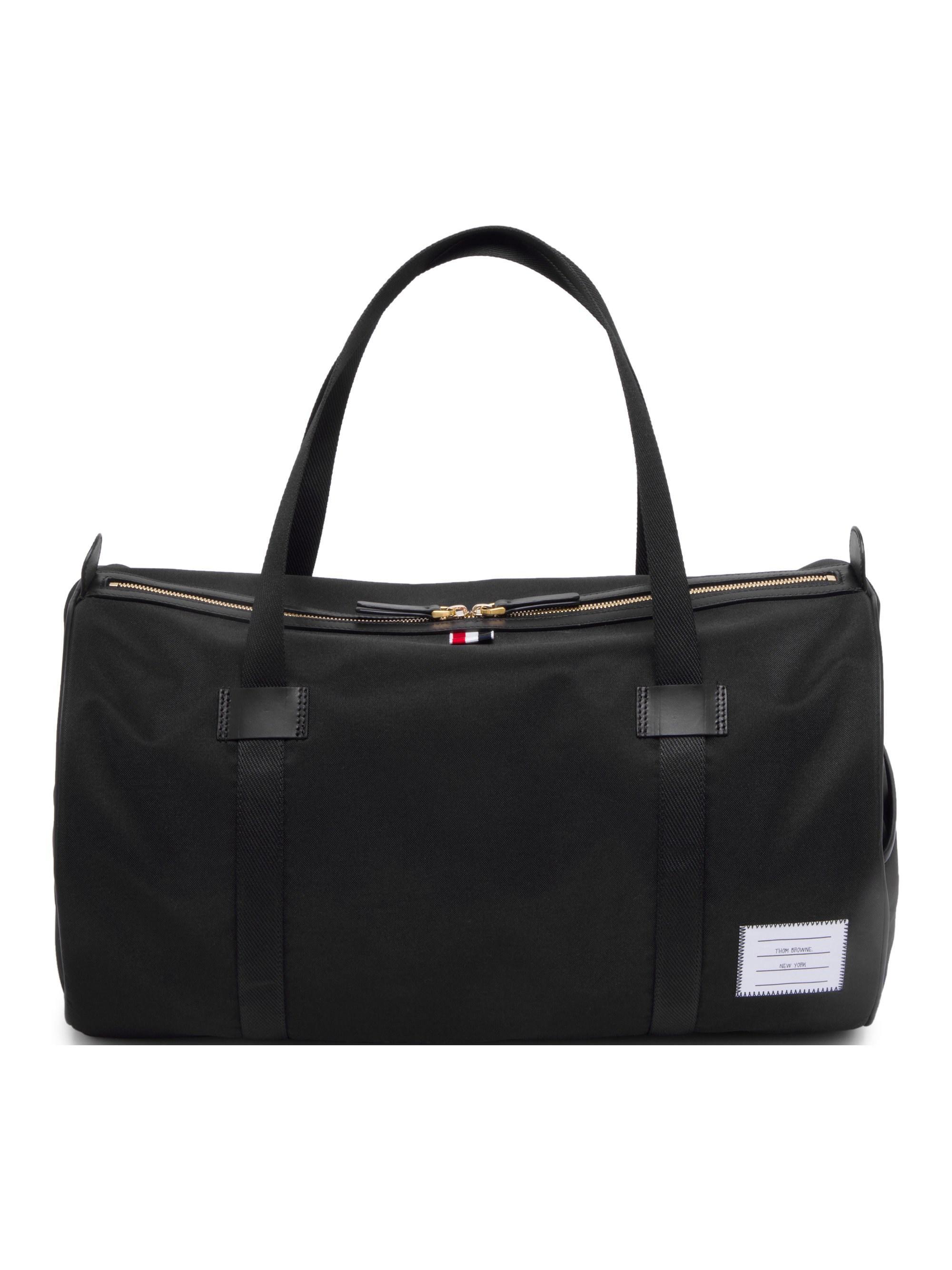 2aefa9878e Lyst - Thom Browne Men s Leather Duffel Bag - Black in Black for Men