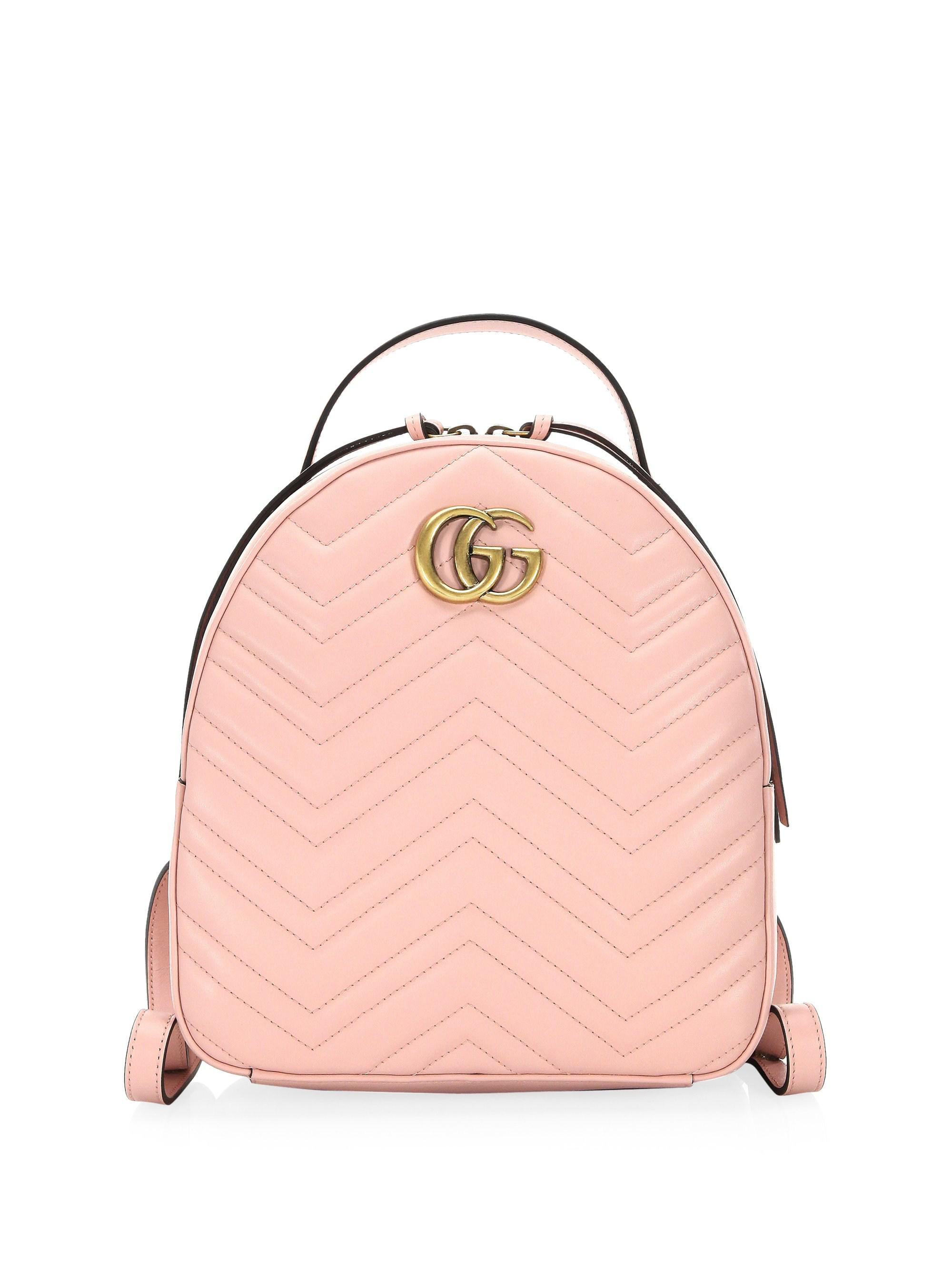 Gucci Women s GG Marmont Chevron Quilted Leather Mini Backpack ... aa0955616a