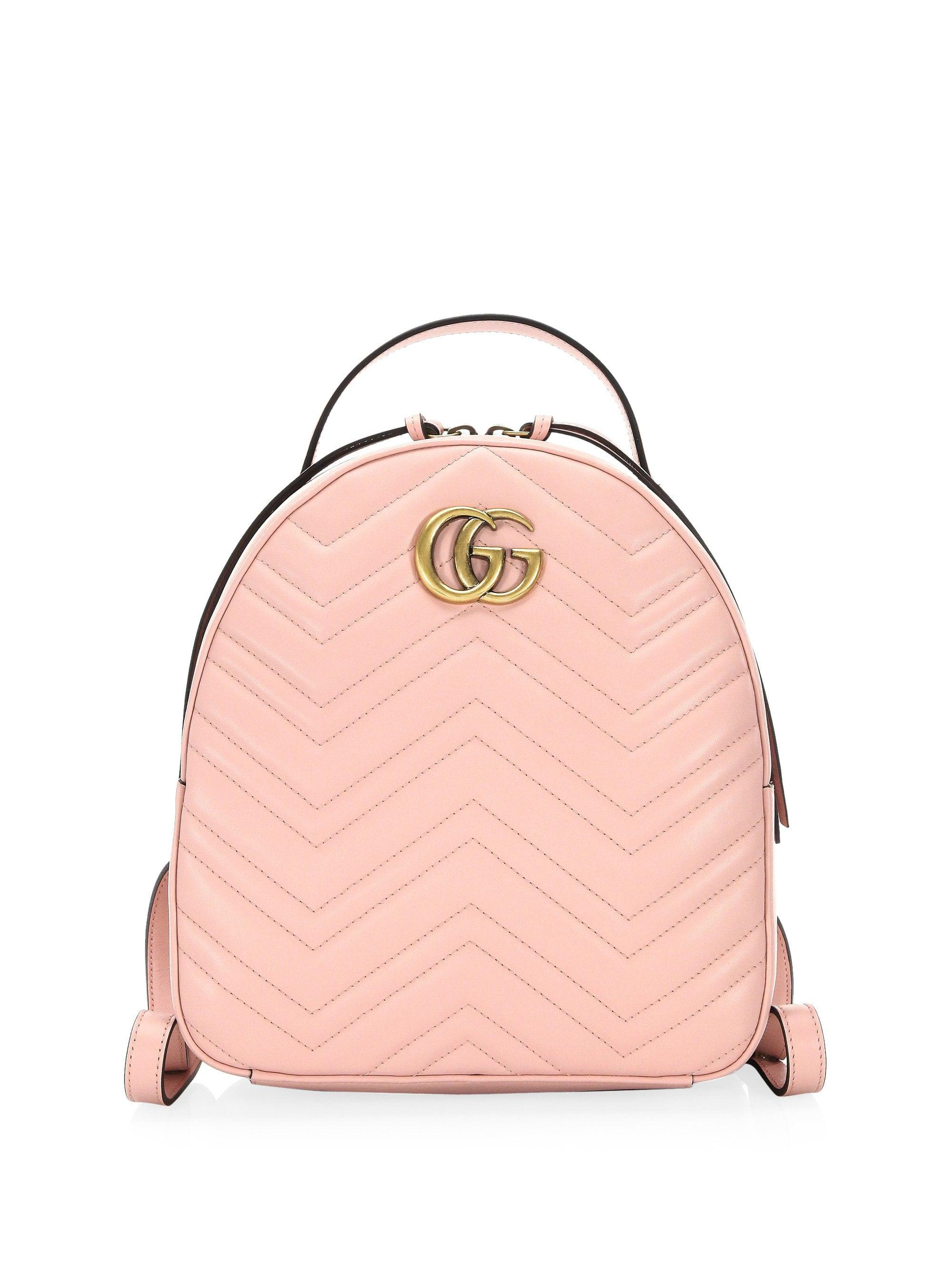b45c70c603e9 Gucci Women s GG Marmont Chevron Quilted Leather Mini Backpack ...