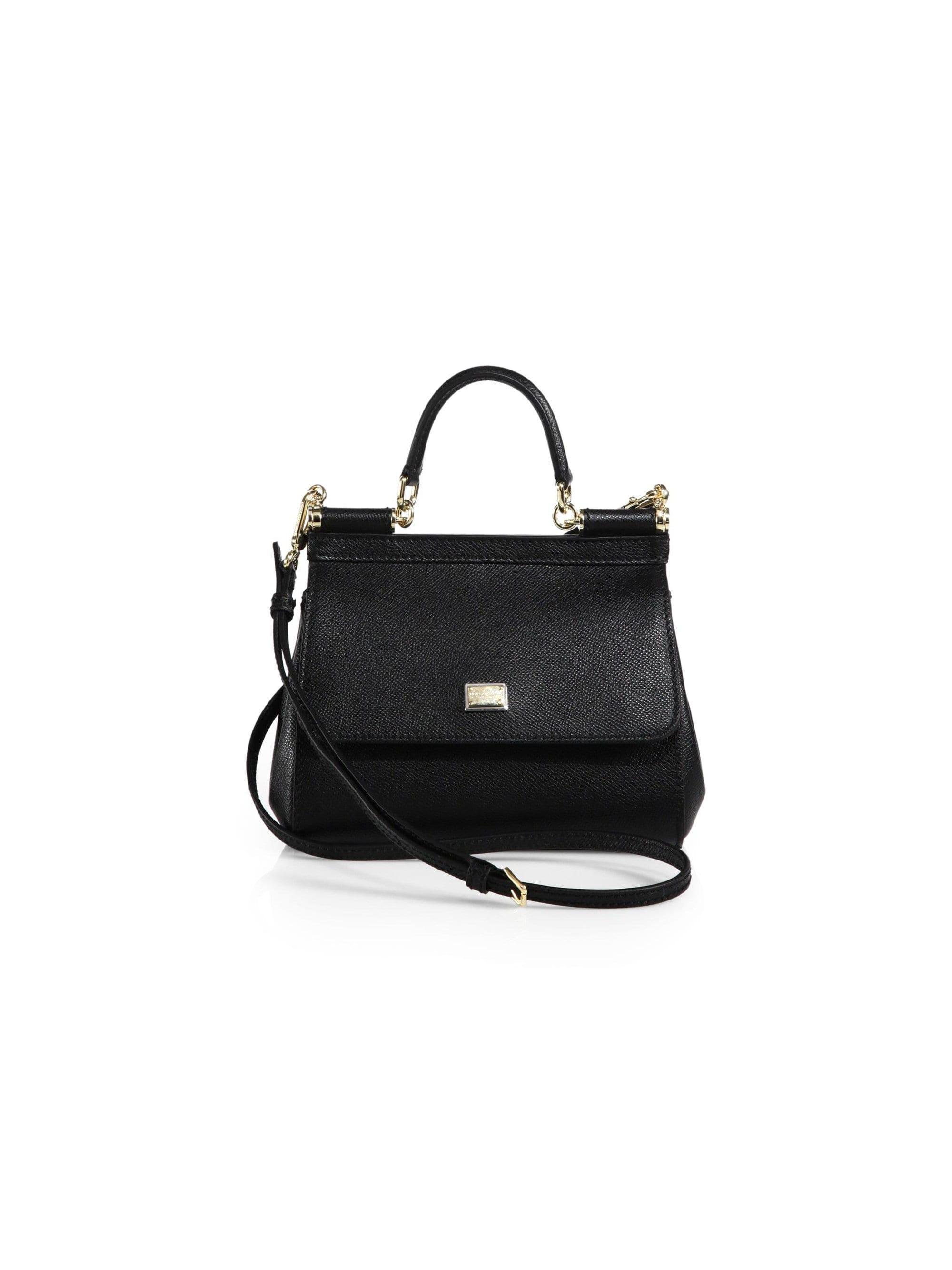 e7f73825f6 Lyst - Dolce   Gabbana Women s Small Sicily Leather Top Handle ...