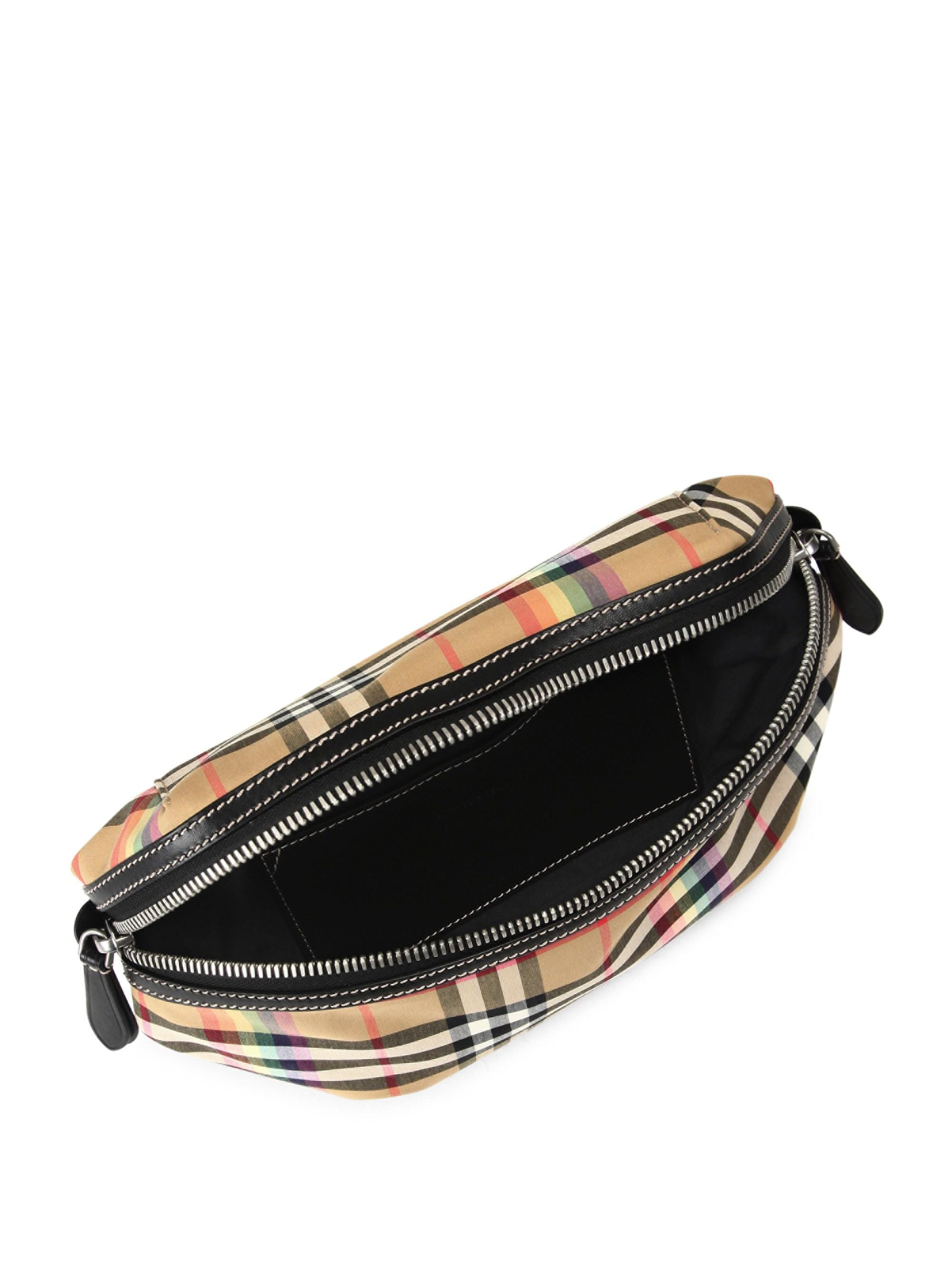 bfda1d3ea9f4 Lyst - Burberry Rainbow Vintage Check Fanny Pack for Men