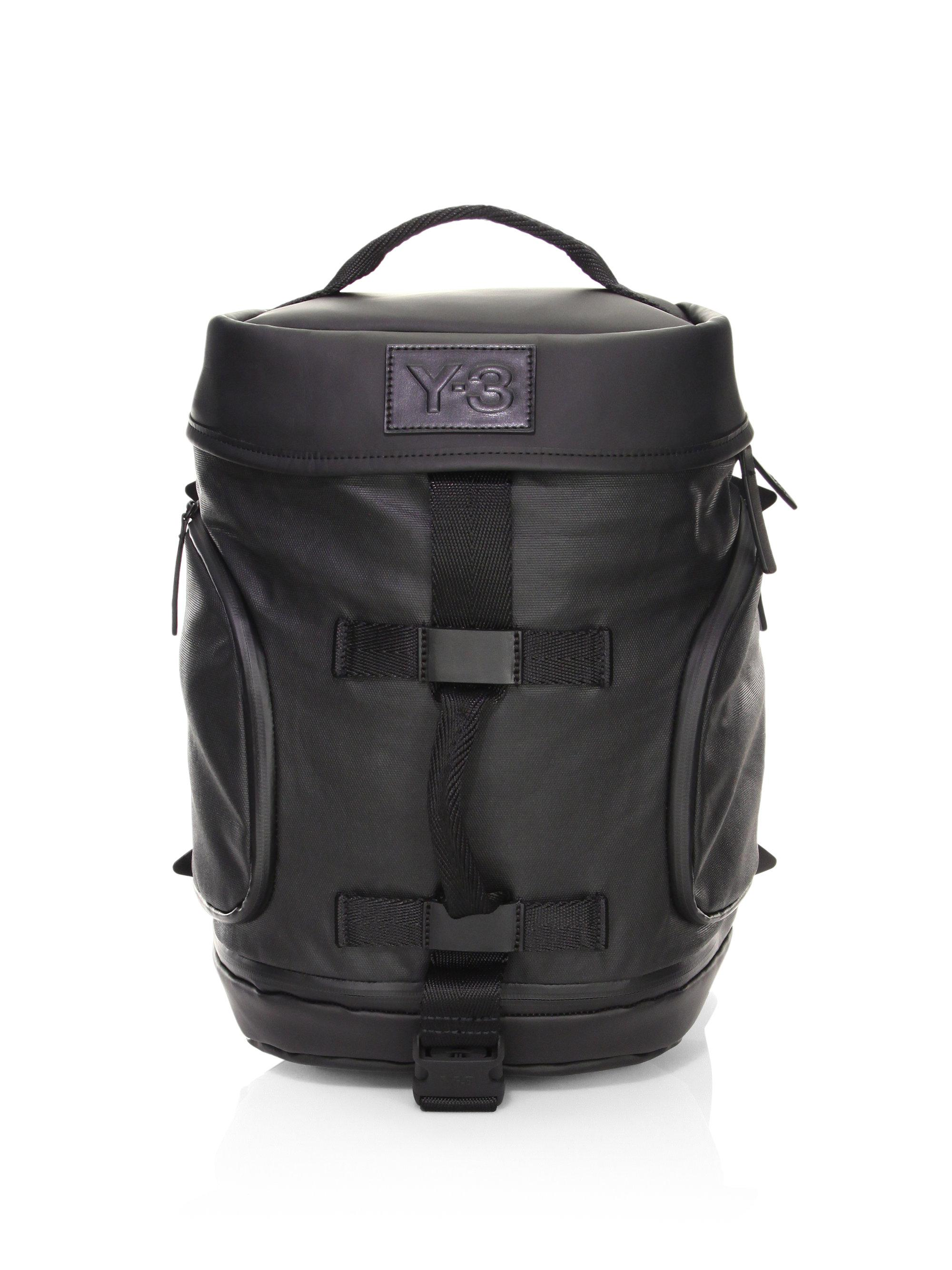 Lyst - Y-3 Icon Small Backpack in Black for Men 9f95479df1343