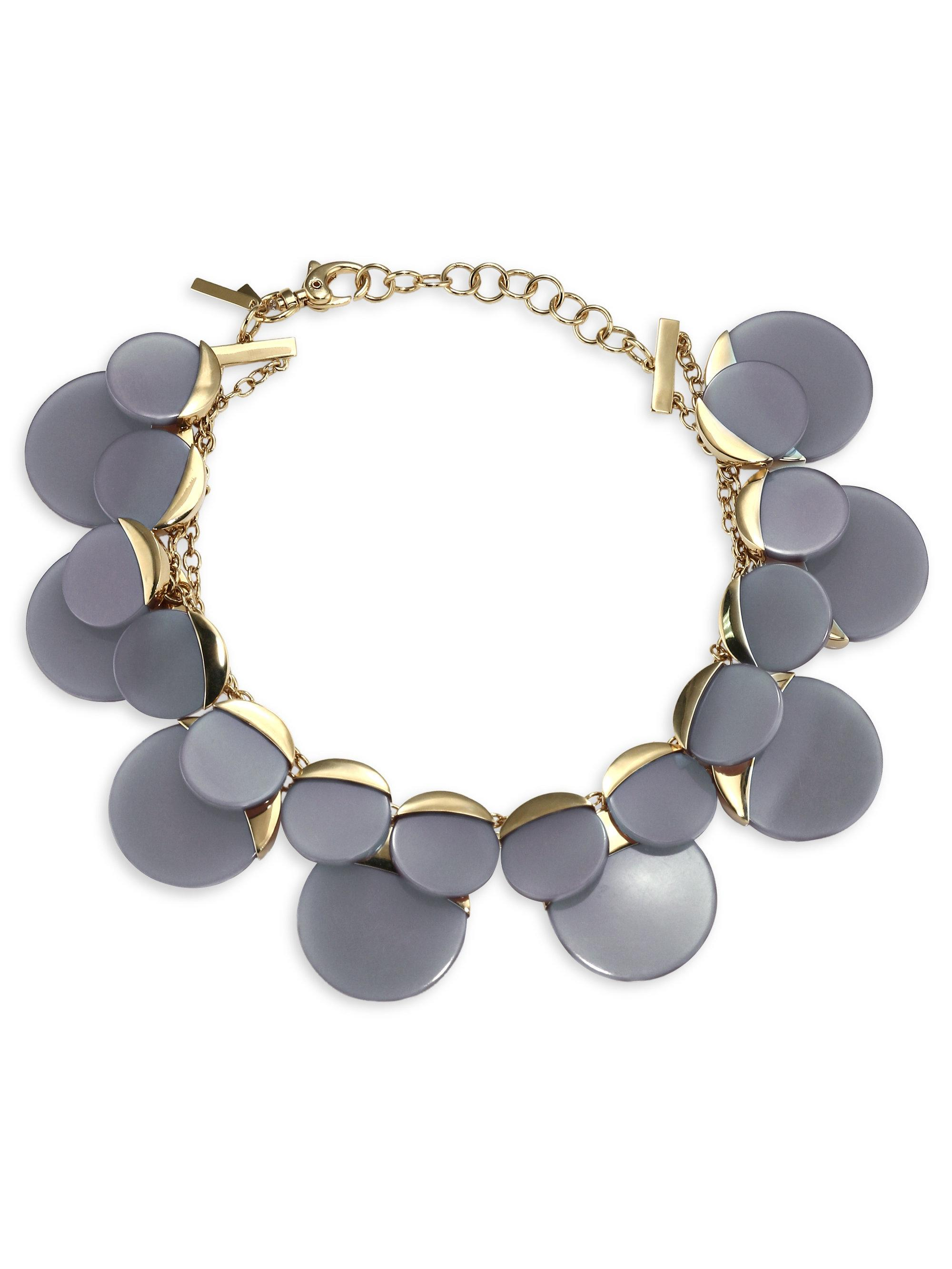 Lele Sadoughi Gardenia Colorblocked Statement Collar Necklace AzmrkRNS