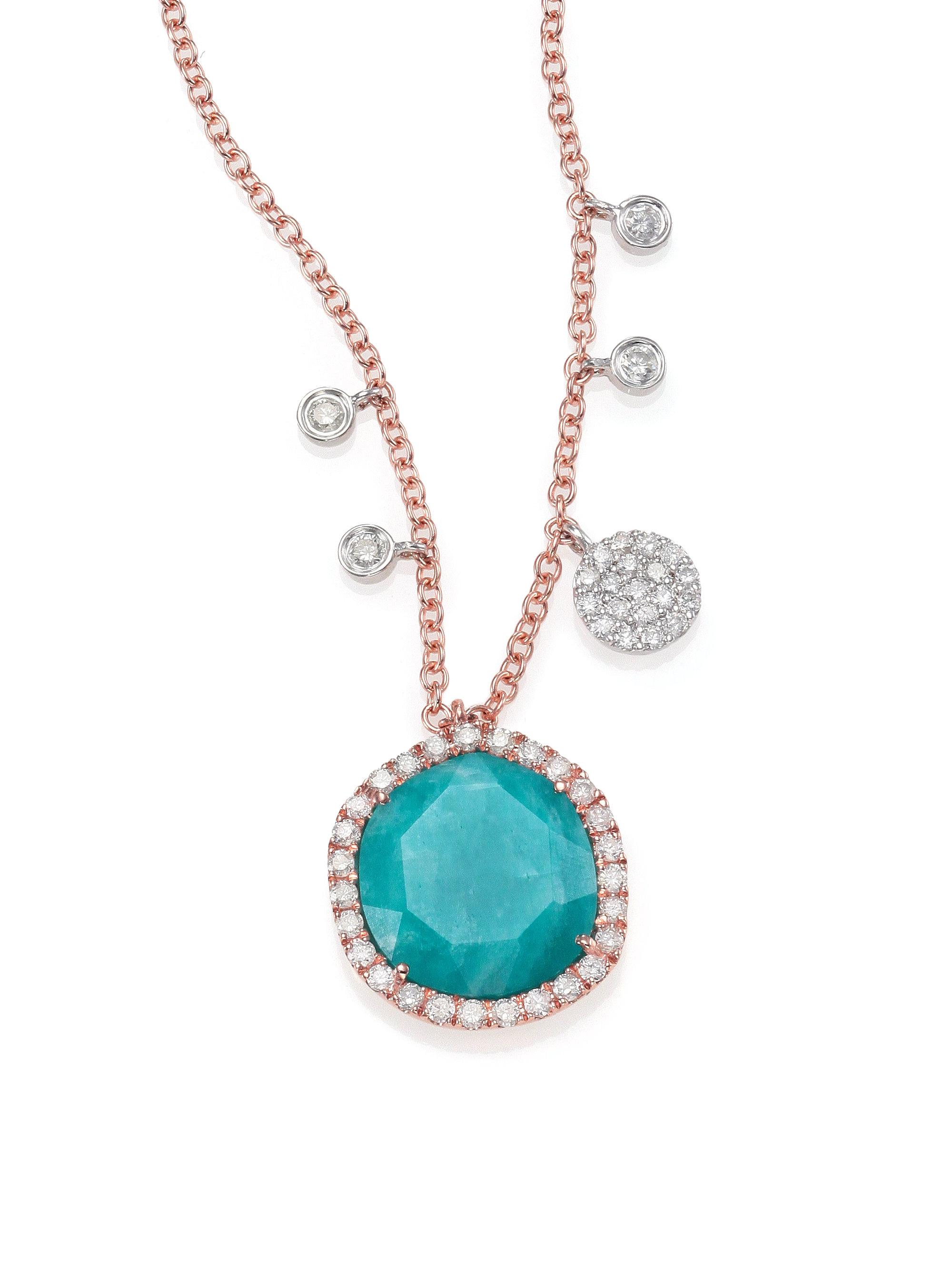 melanie mkindred by product allure necklace amazonite june