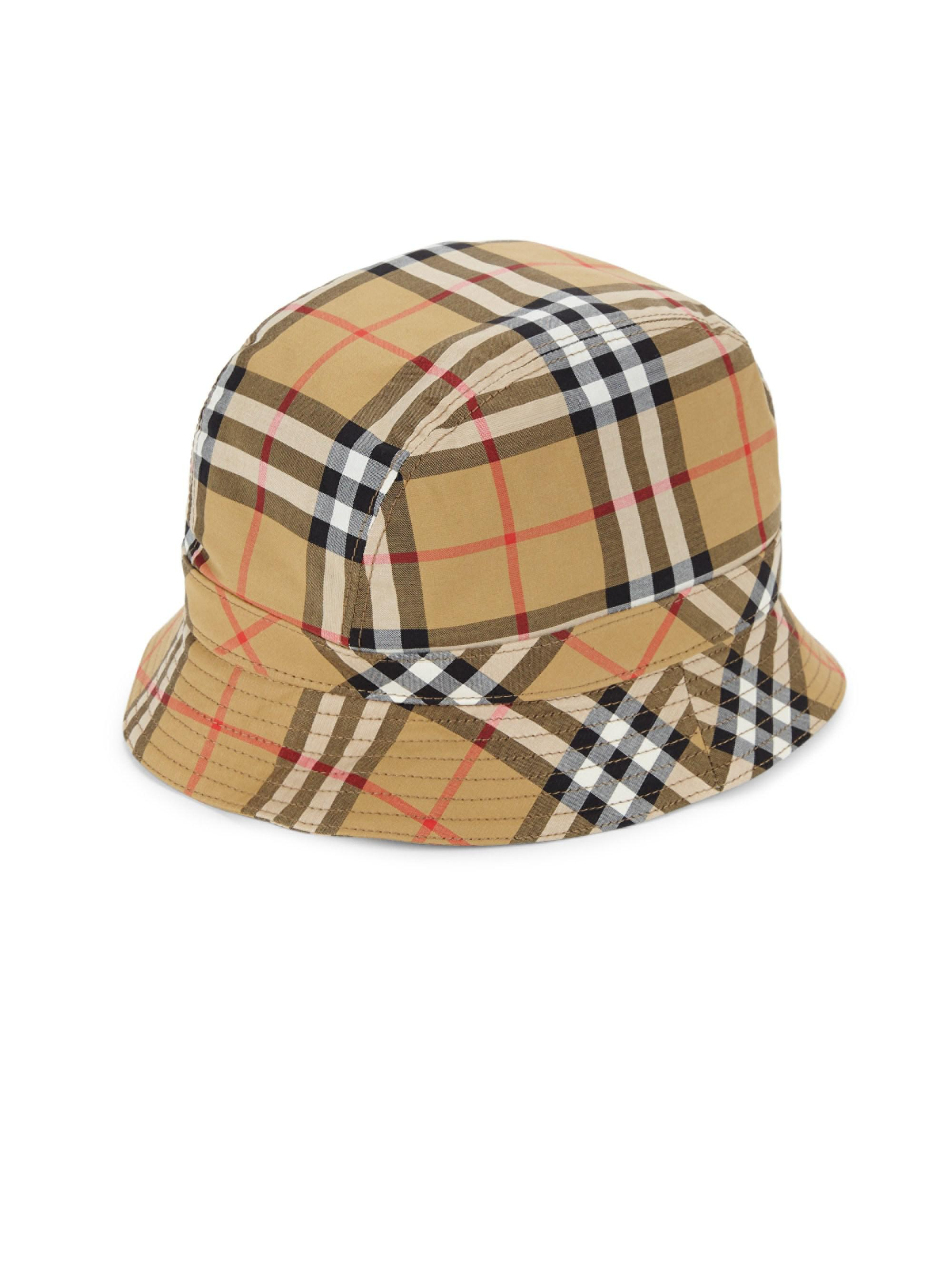 a61479859e3 Lyst - Burberry Tartan Bucket Hat for Men